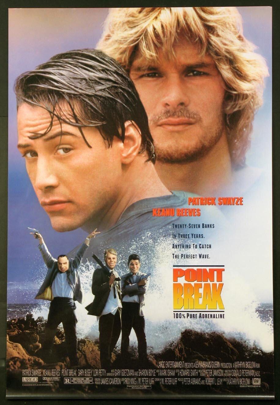 Rohan's favourite movie, the classic Point Break
