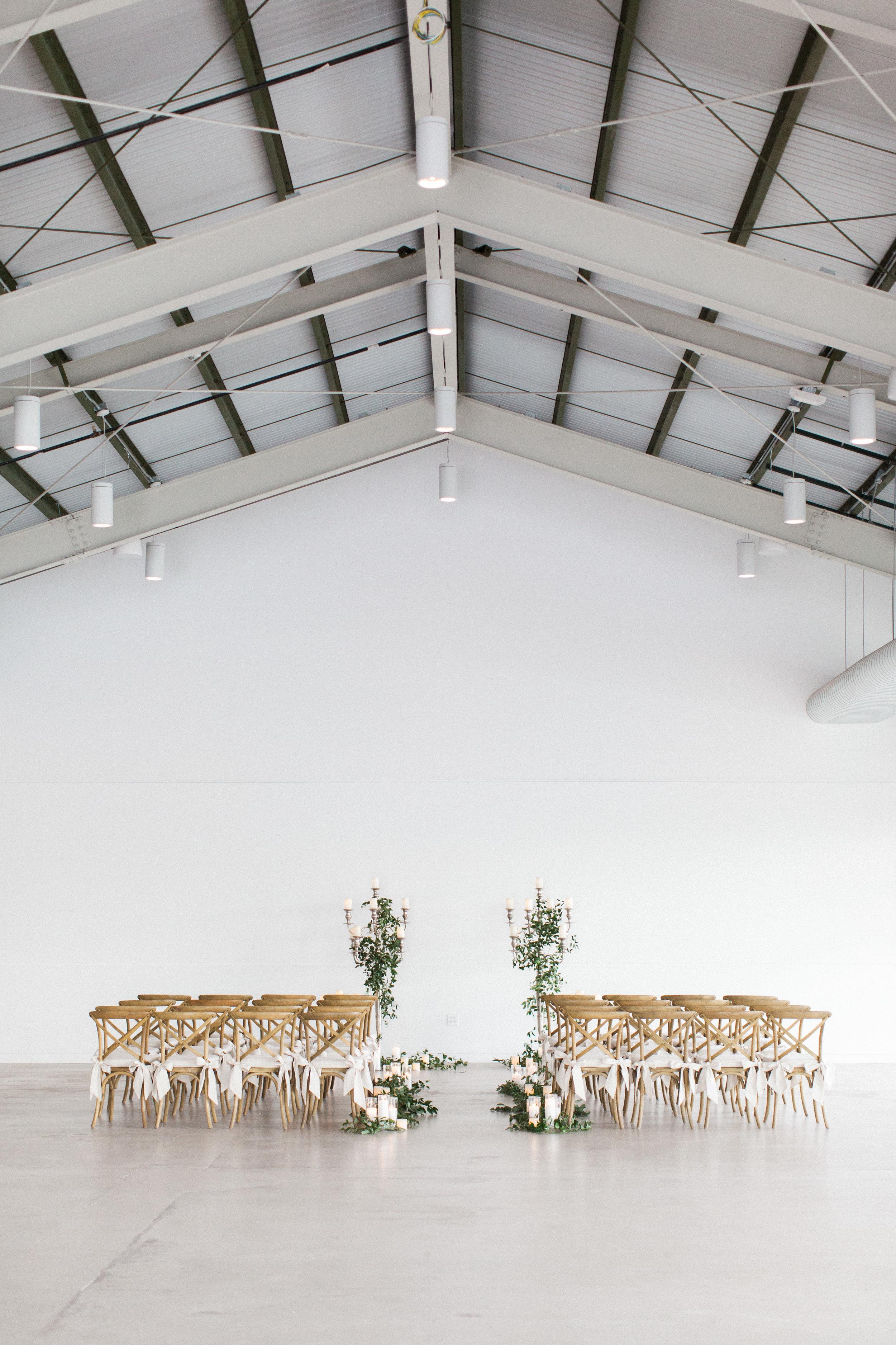 Mauve and Lavender Modern Wedding Inspiration - Ceremony