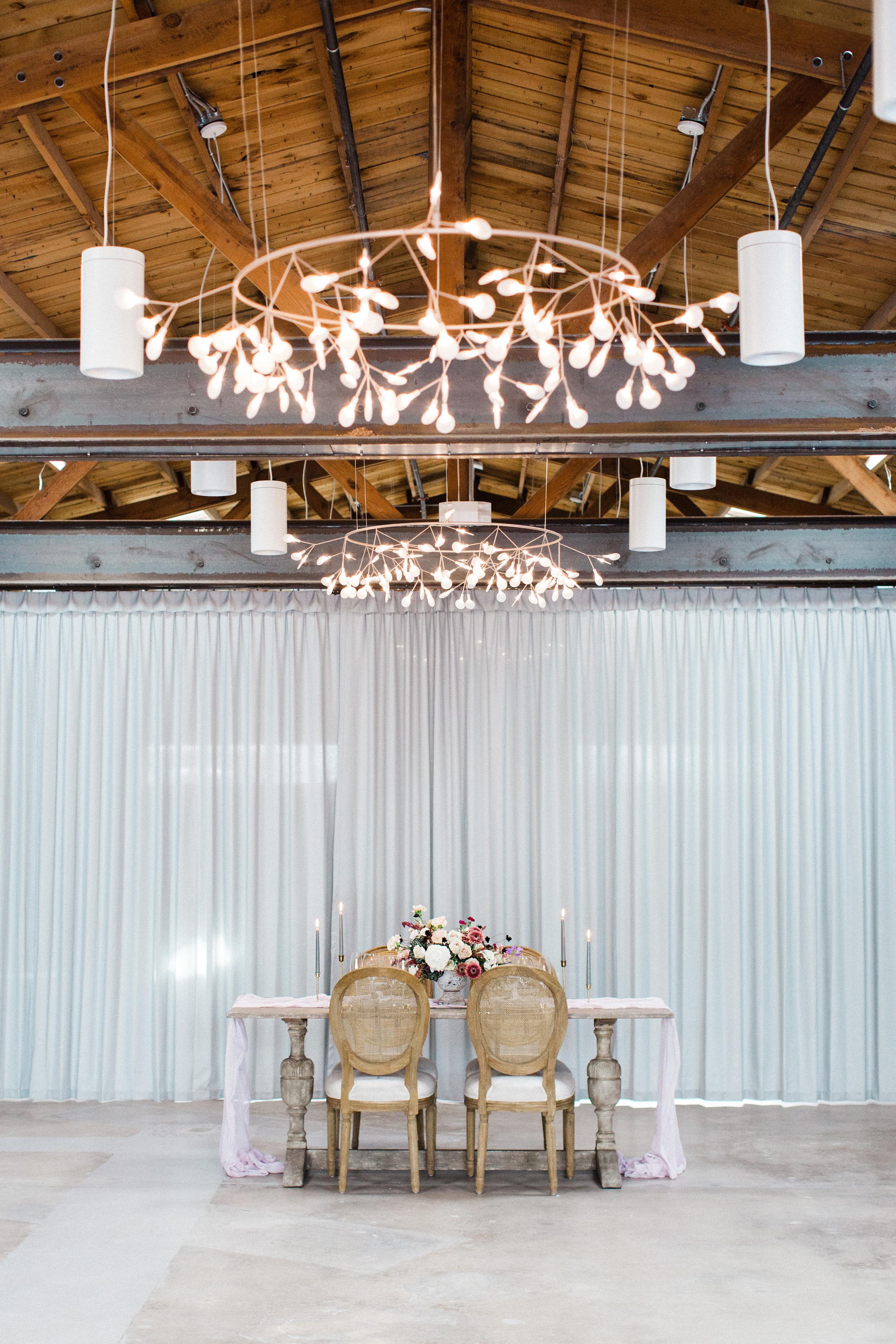 Mauve and Lavender Modern Wedding Inspiration - Reception