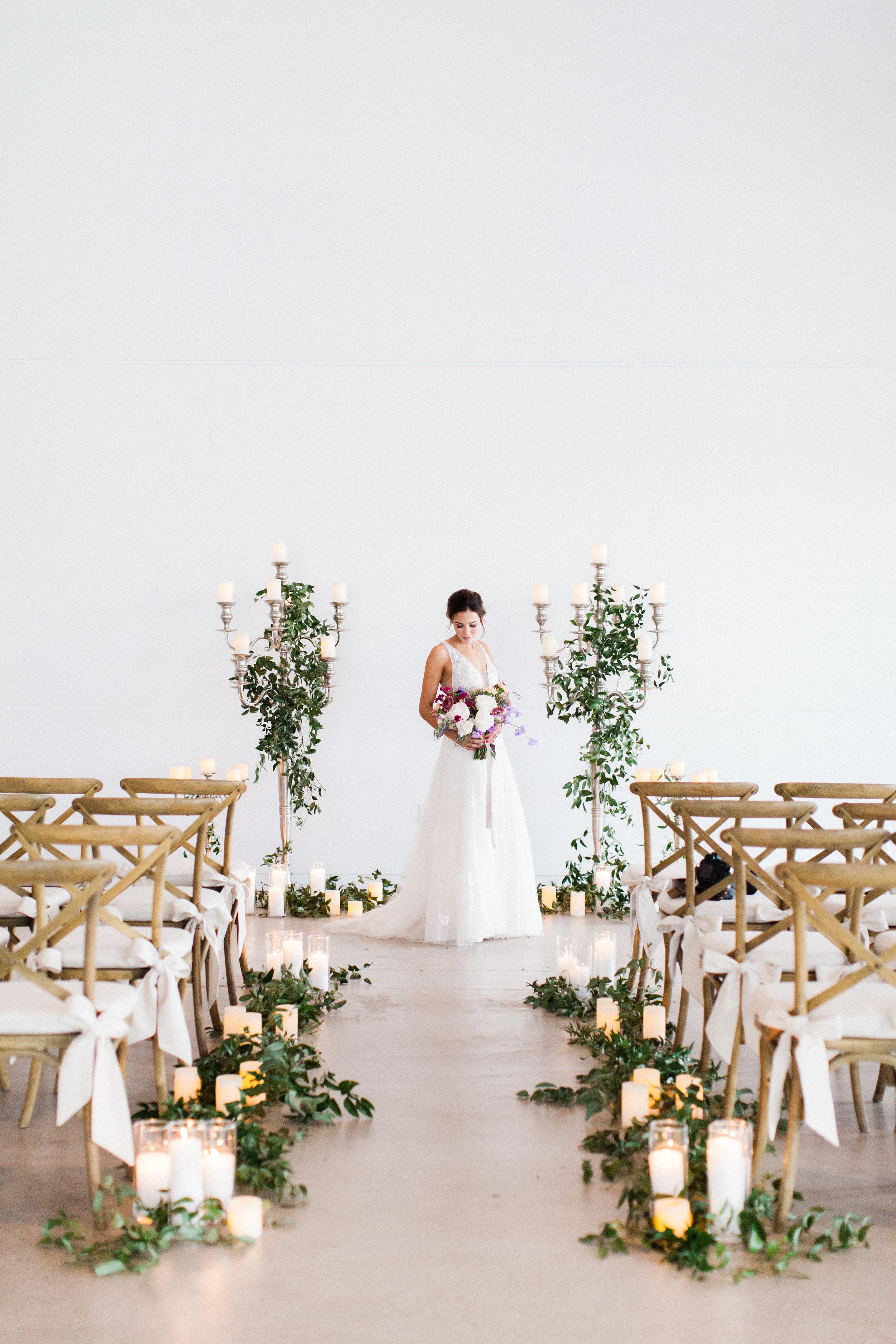 Mauve and Lavender Modern Wedding Inspiration - Ceremony Backdrop