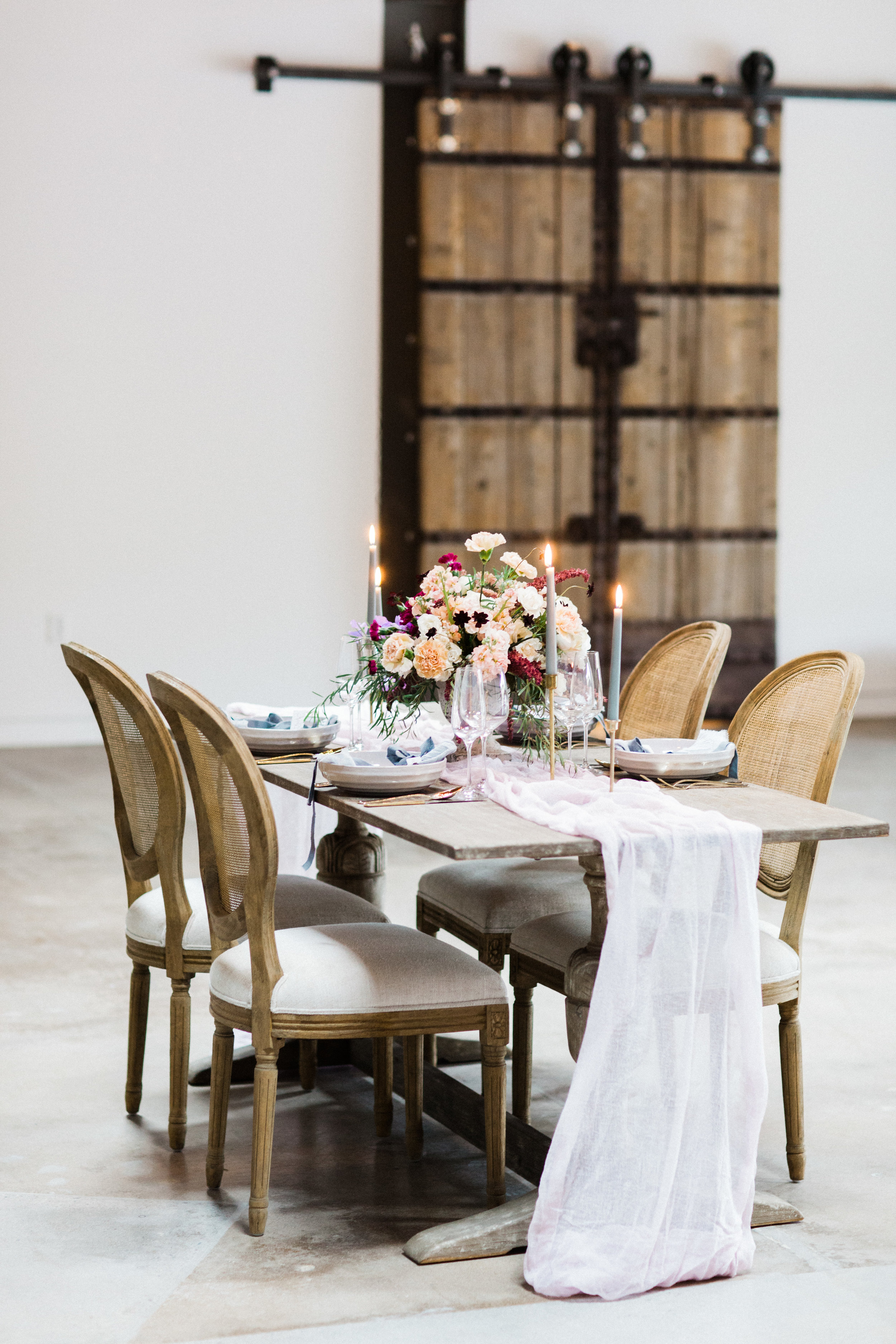 Mauve and Lavender Modern Wedding Inspiration - Head Table