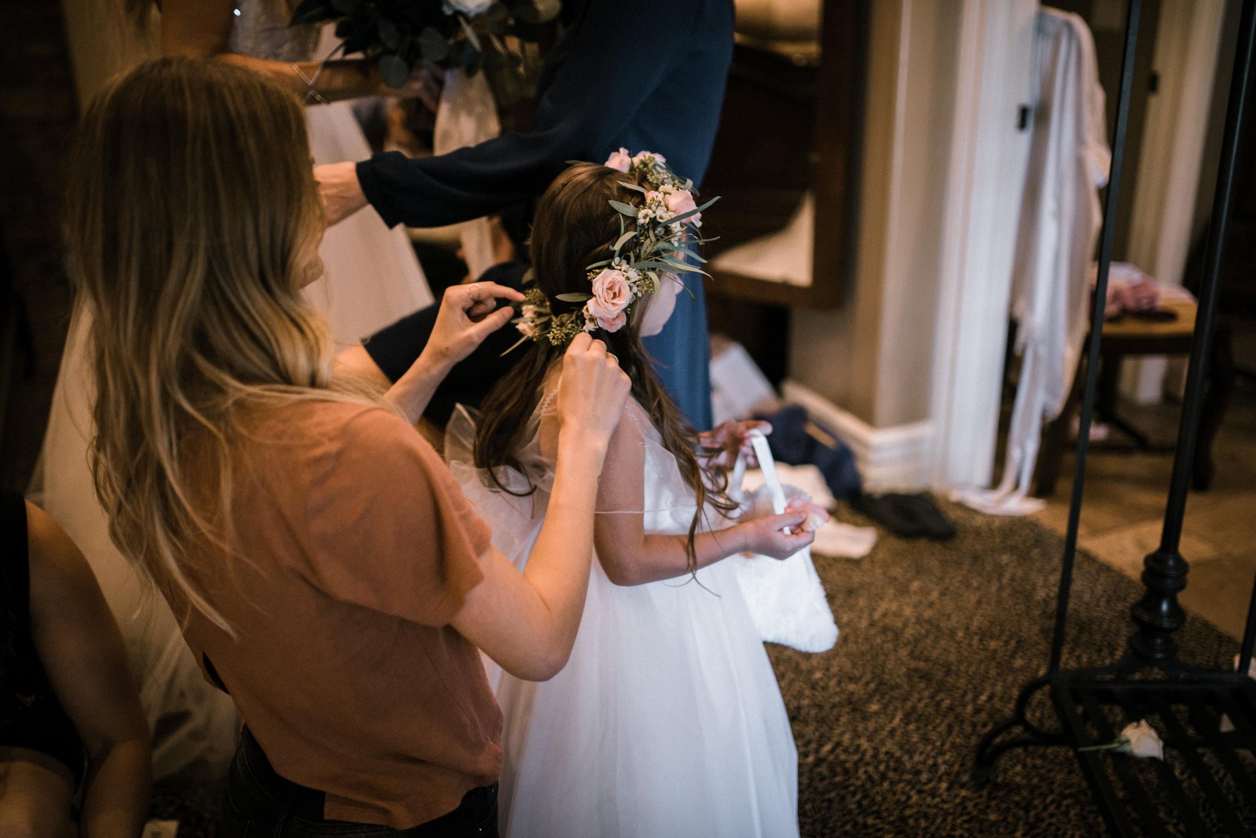 Moody, Romantic Arizona Wedding - Flower Girl Crown