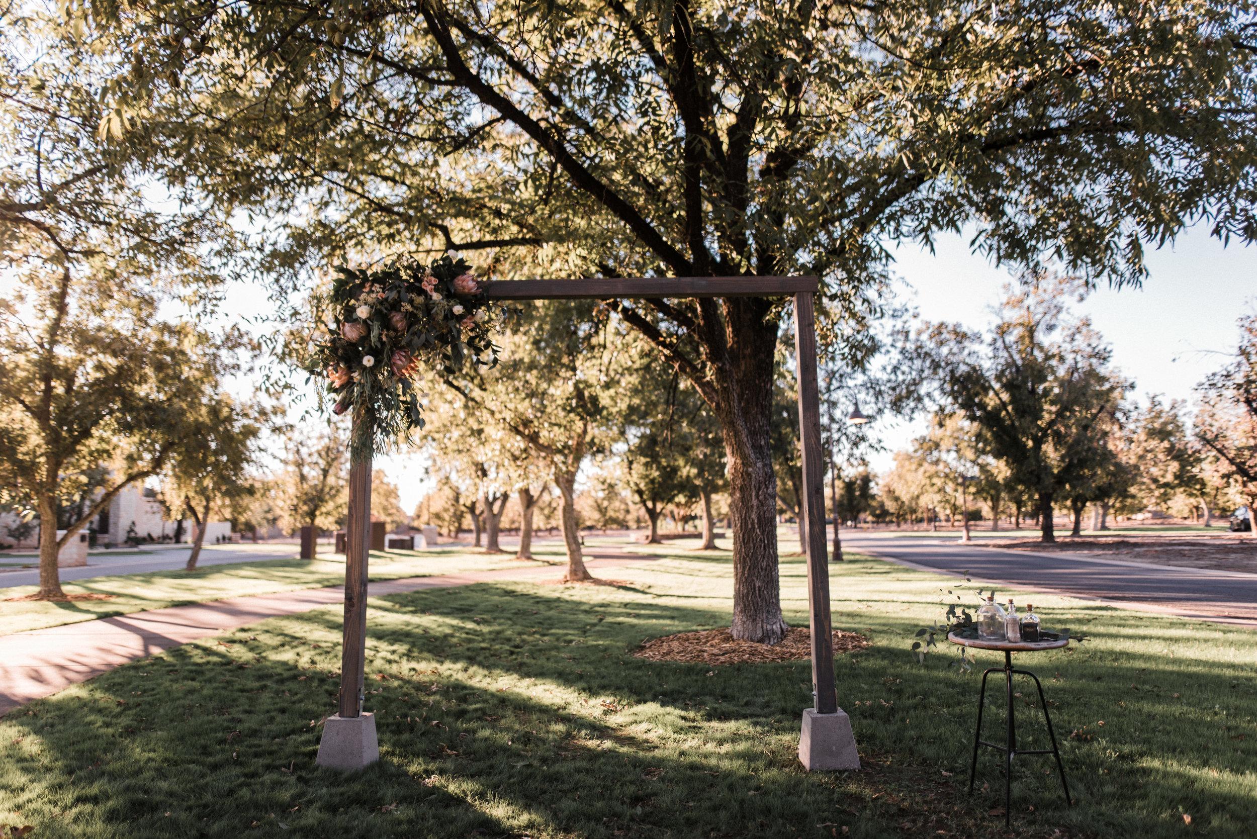 Moody, Romantic Arizona Wedding - Ceremony Arch
