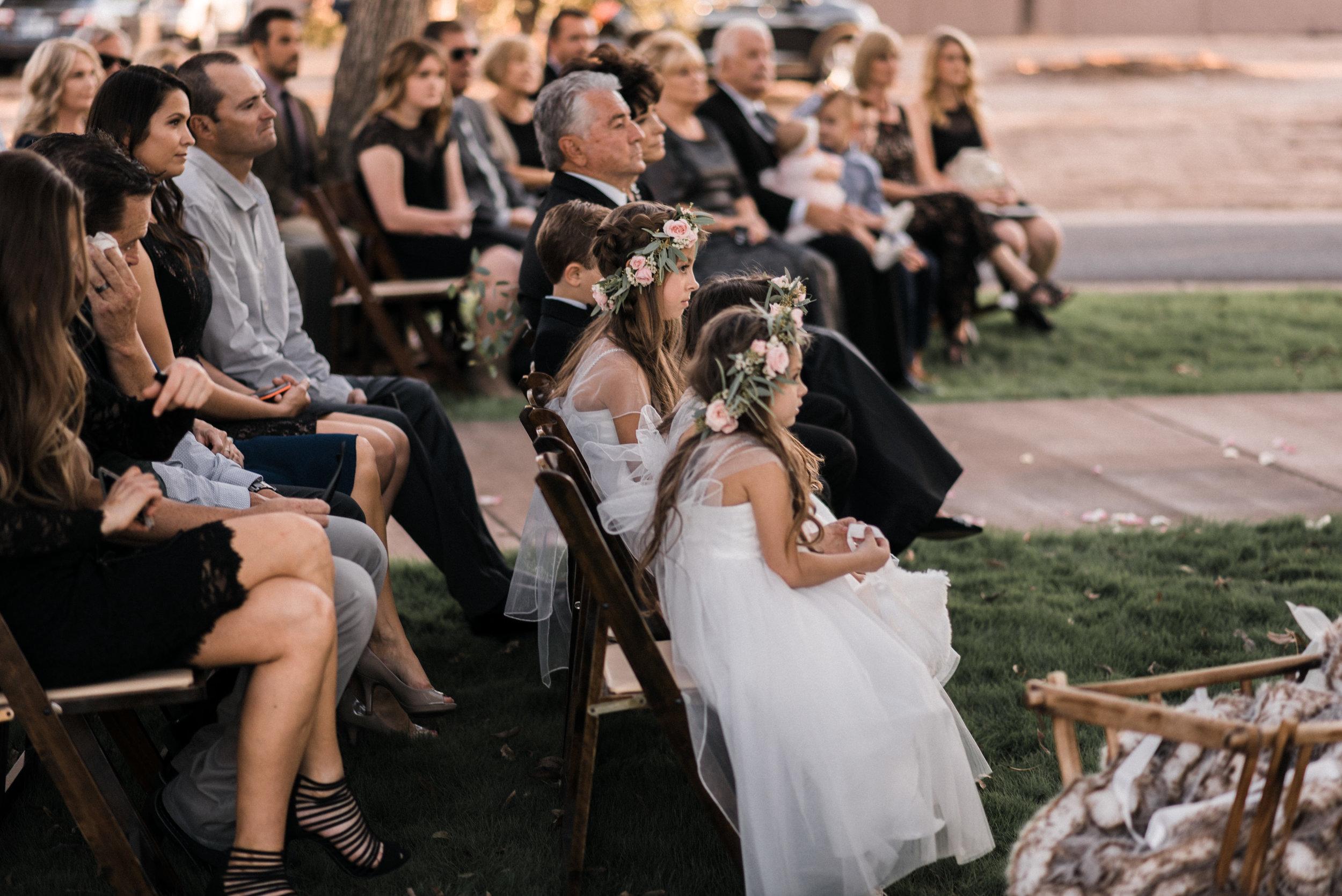 Moody, Romantic Arizona Wedding - Flower Girls