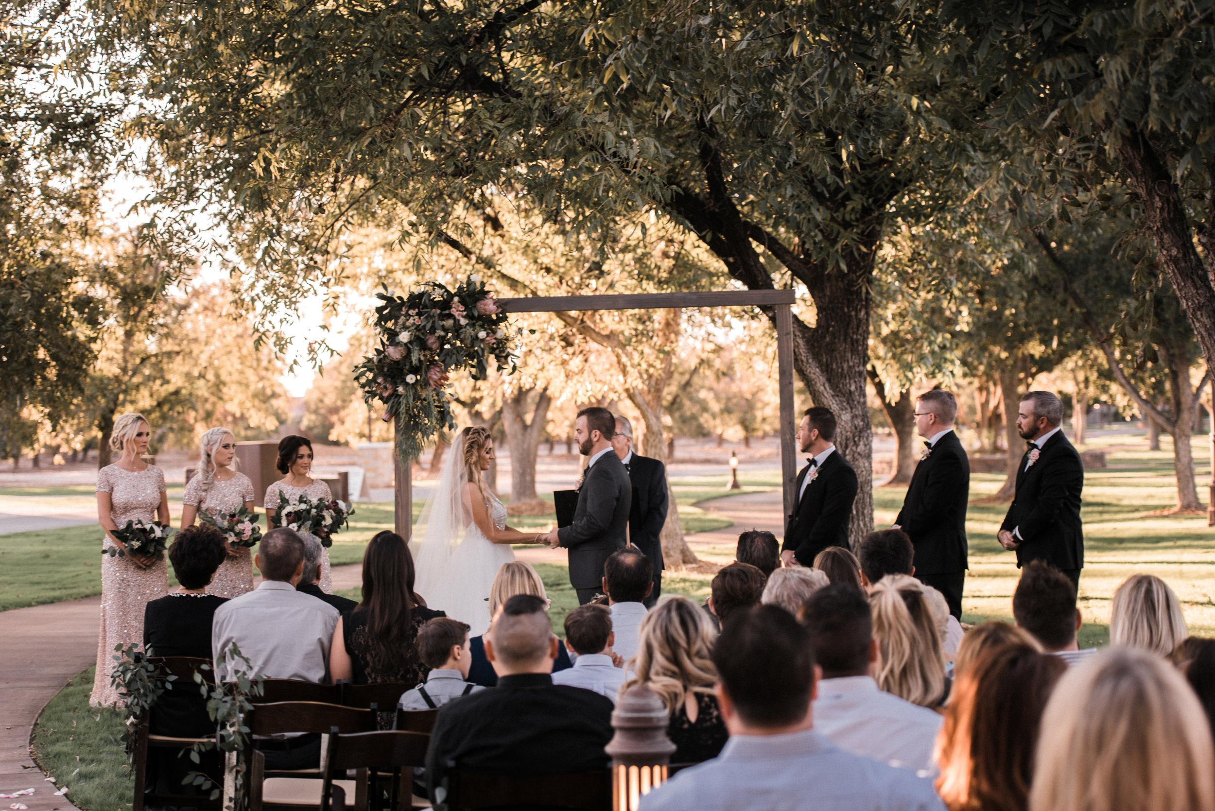 Moody, Romantic Arizona Wedding - Ceremony Inspiration