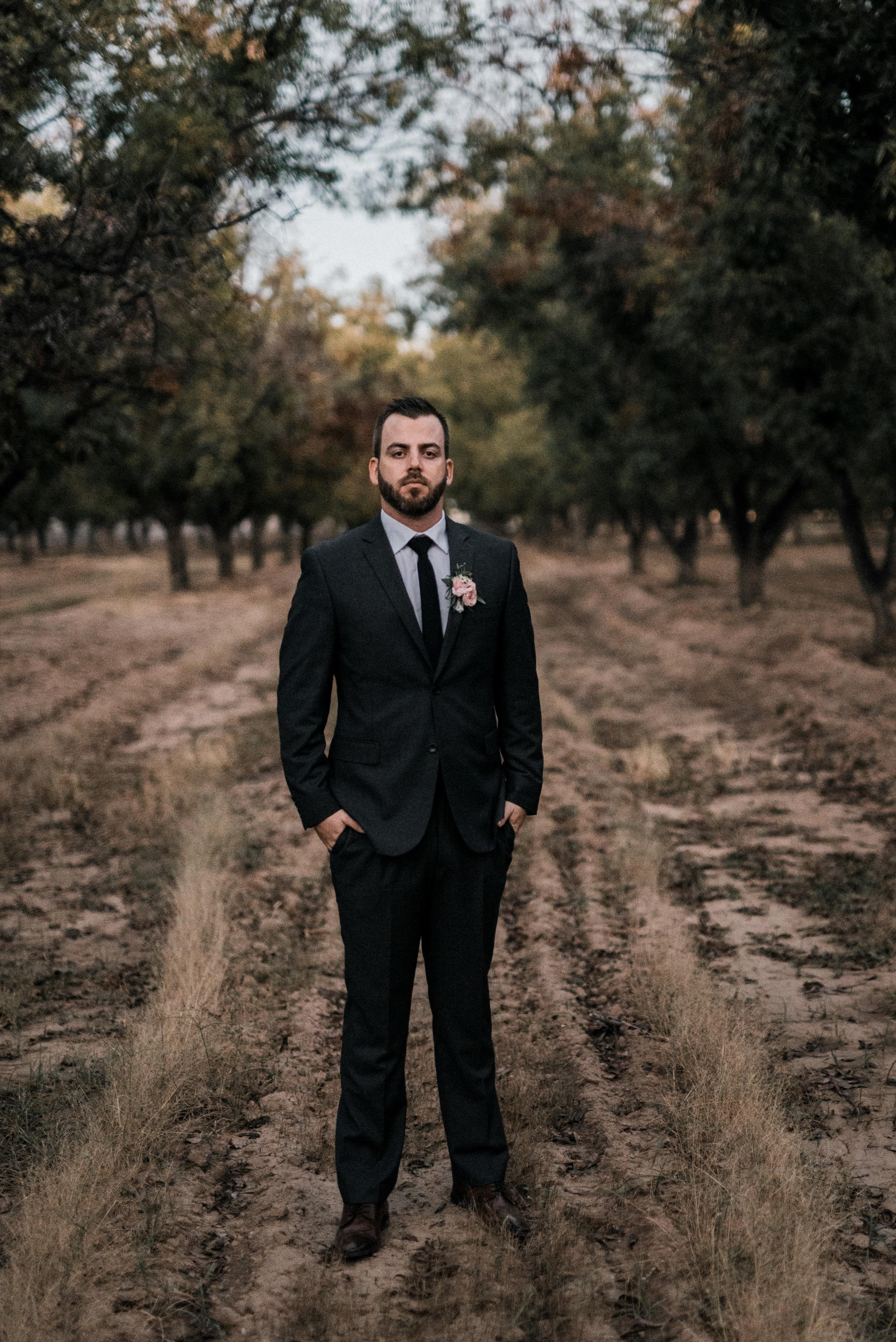 Moody, Romantic Arizona Wedding - Groom Style