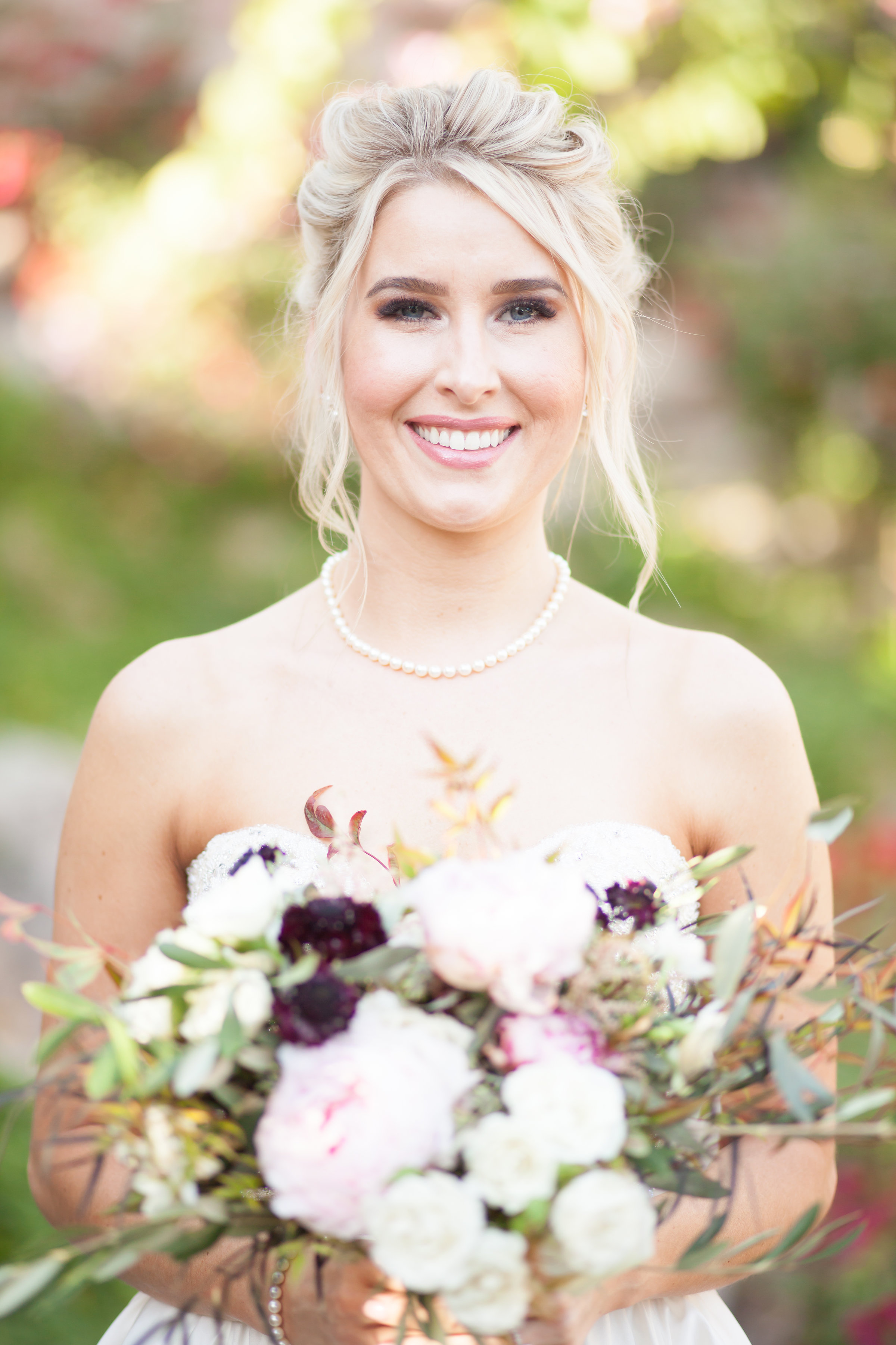 Winter Wedding with Black and White Flowers