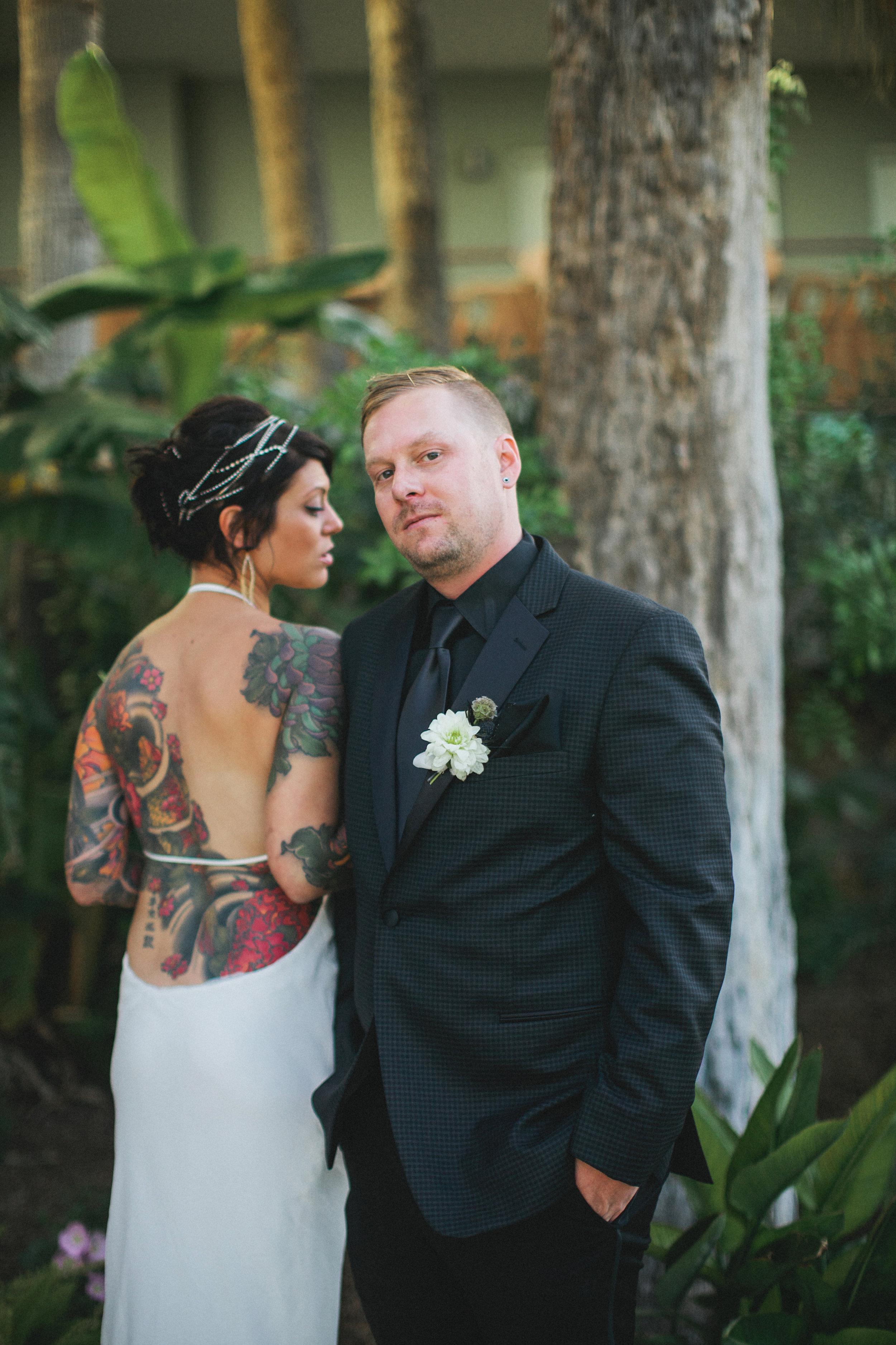 Black and White Hotel Valley Ho Wedding