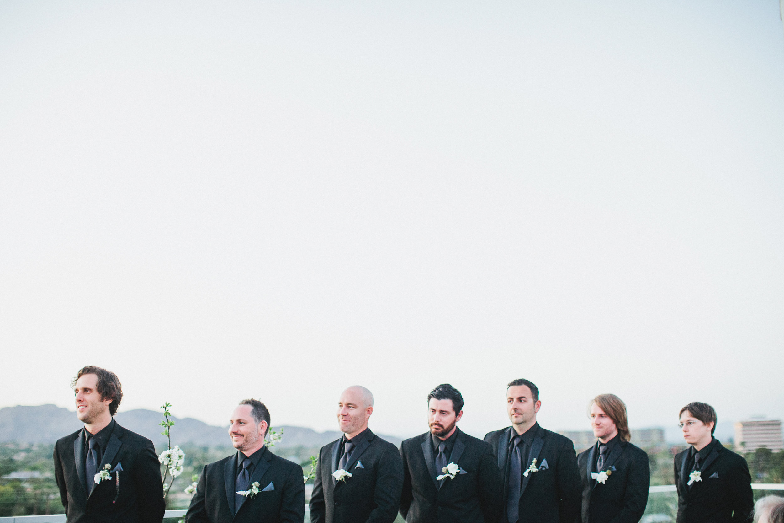 Black and White Hotel Valley Ho Wedding - Rooftop Ceremony