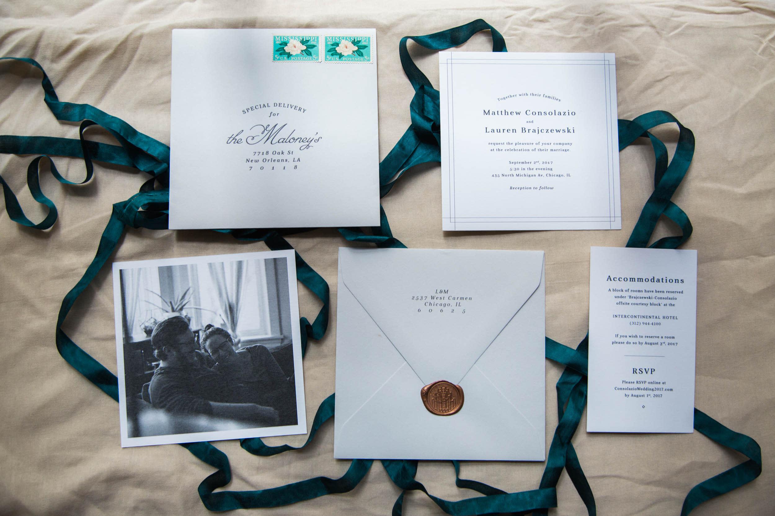 Chicago Wedding - Custom Stationary Suite