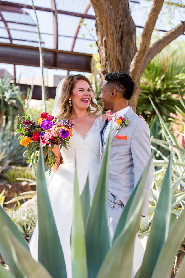 Colorful Desert Botanical Garden Wedding