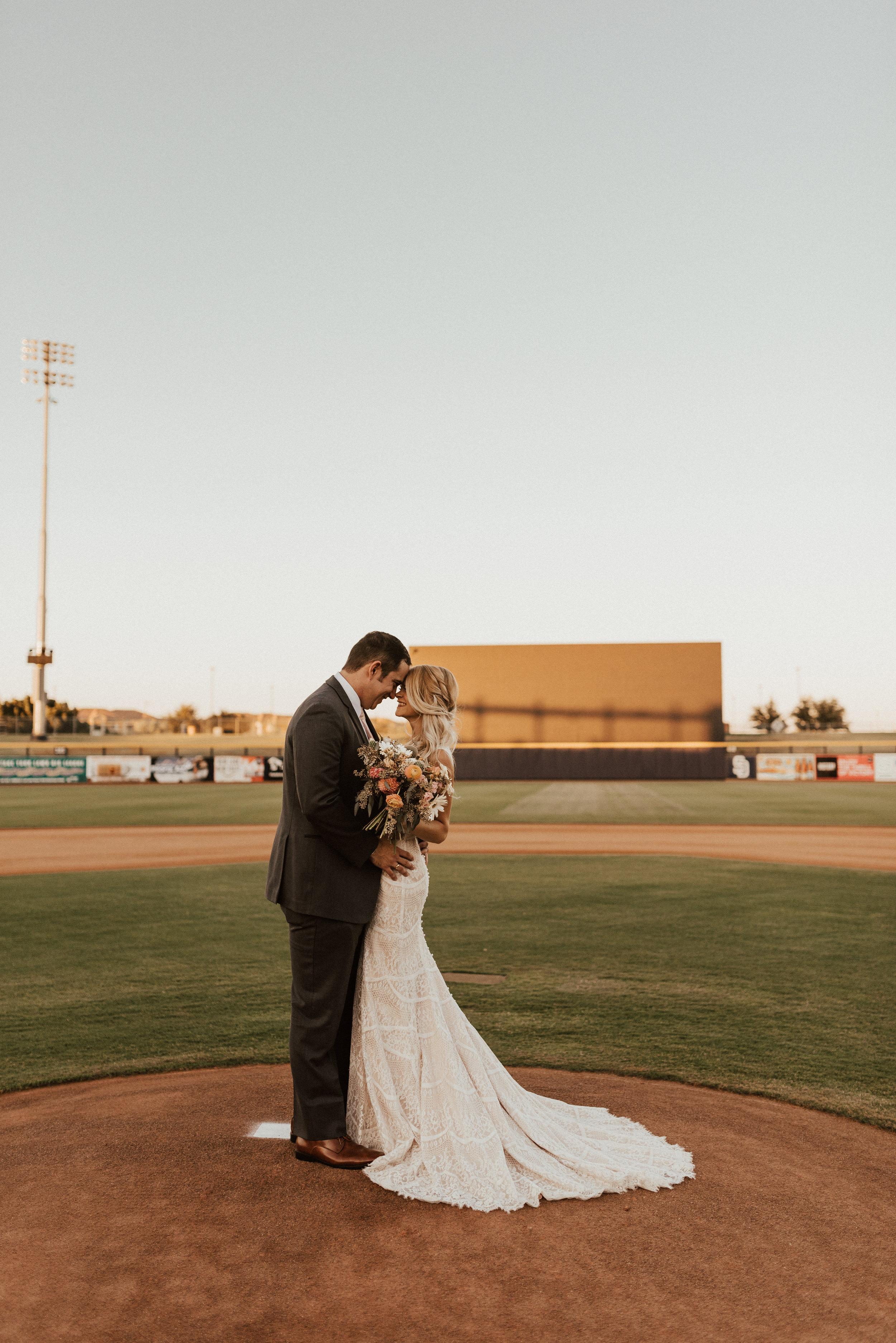 Baseball Stadium Wedding in the Desert