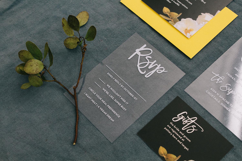 Basic Invite - Acrylic Customizable Wedding Invitations