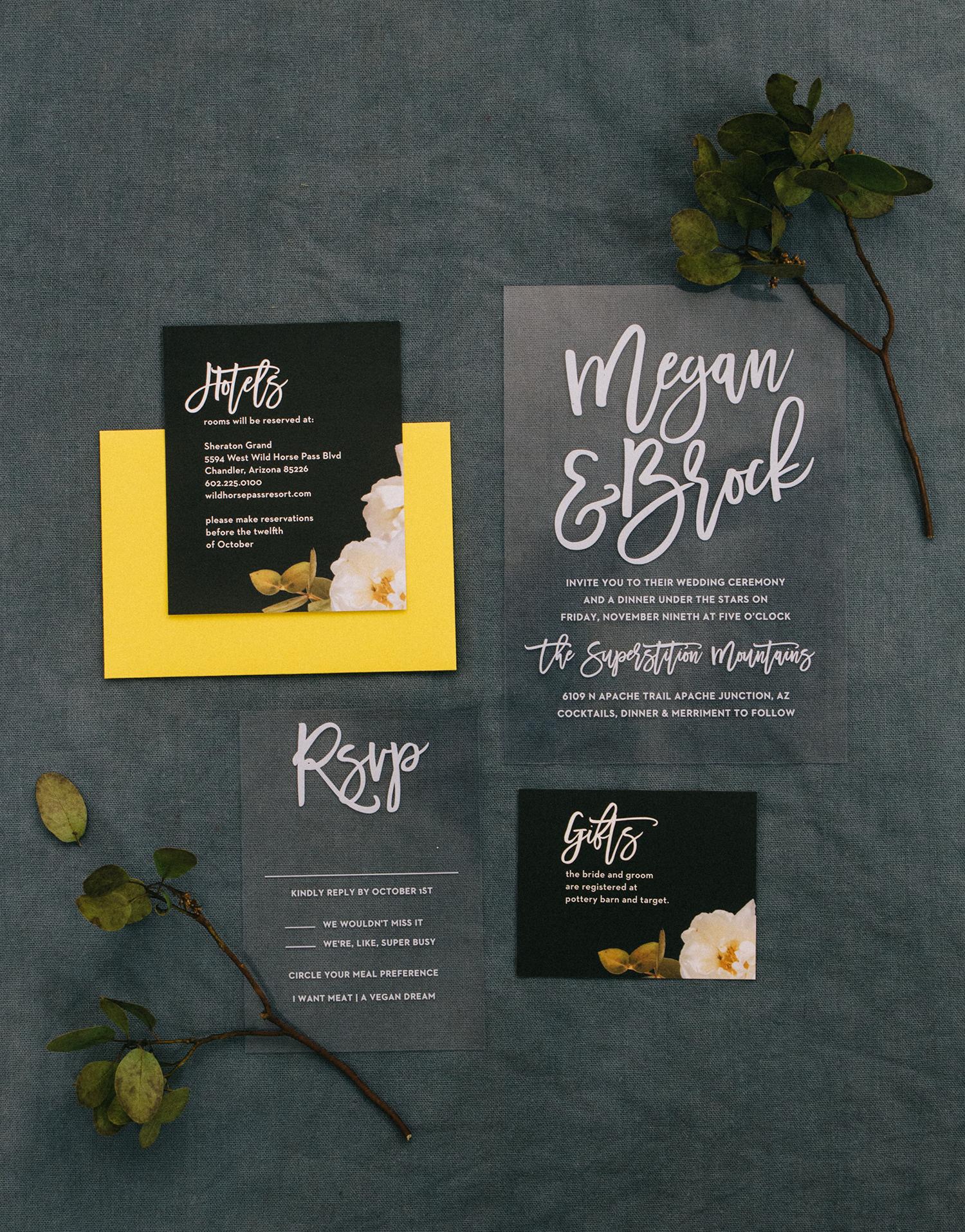 Basic Invite - Acrylic Wedding Invitations
