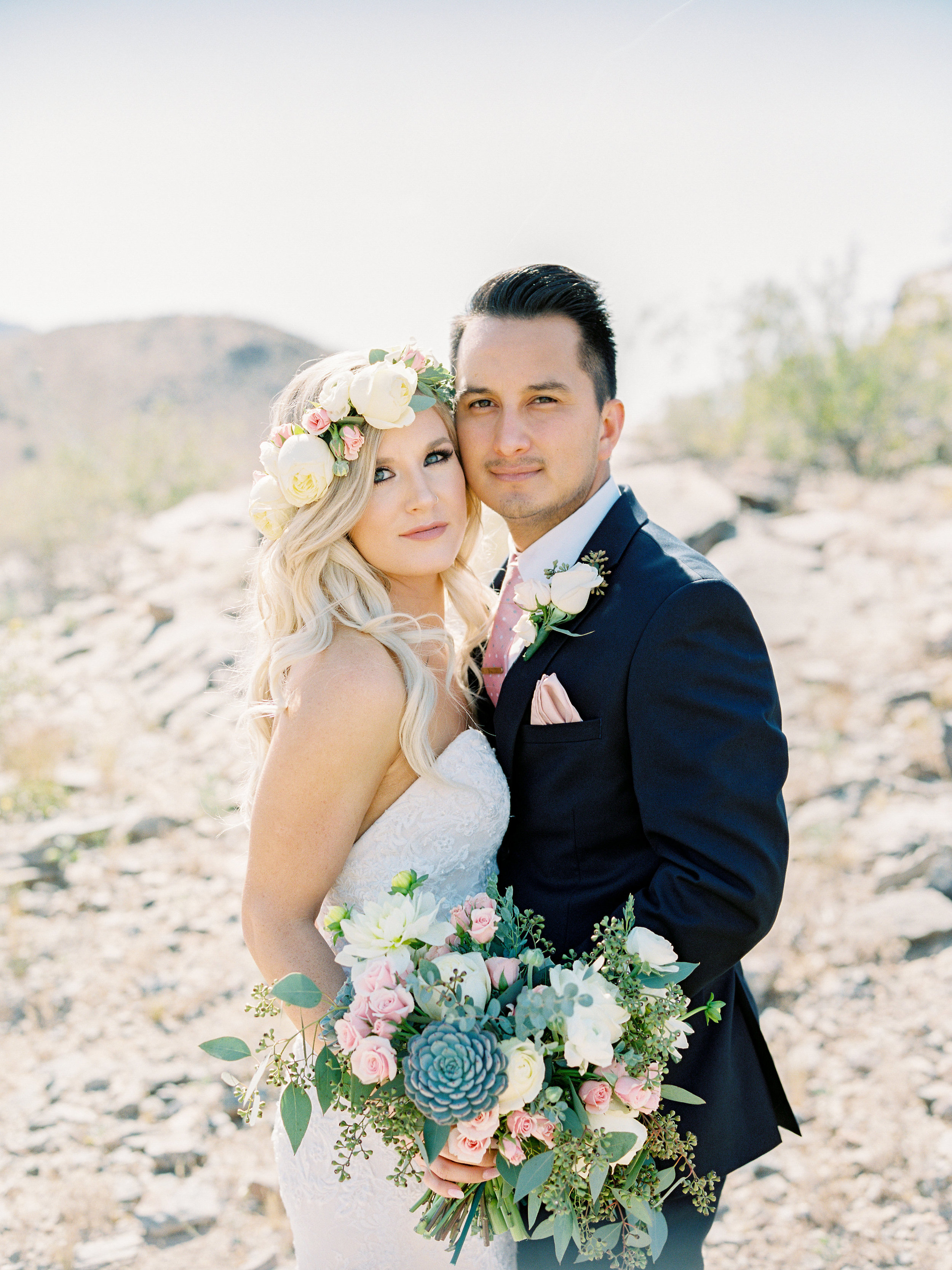 Full Bouquet, Full Crown, and Boutonniere
