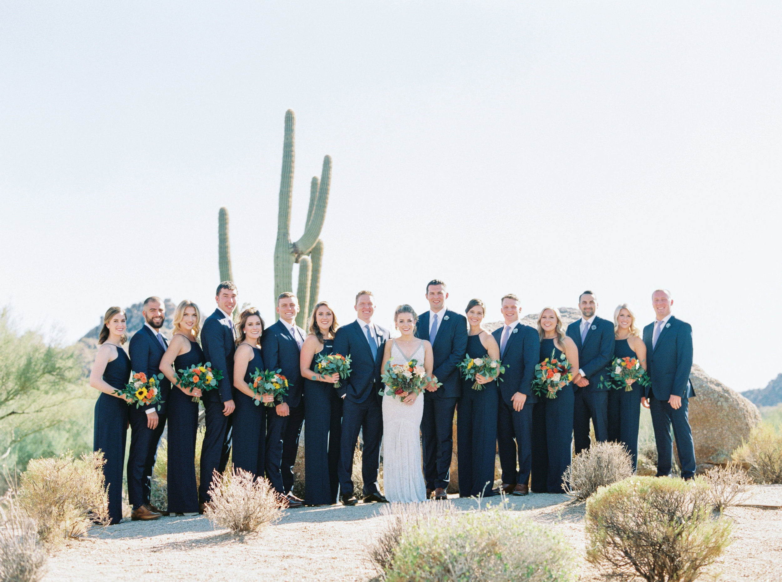 Troon North Desert Wedding - Navy Bridesmaids Dresses