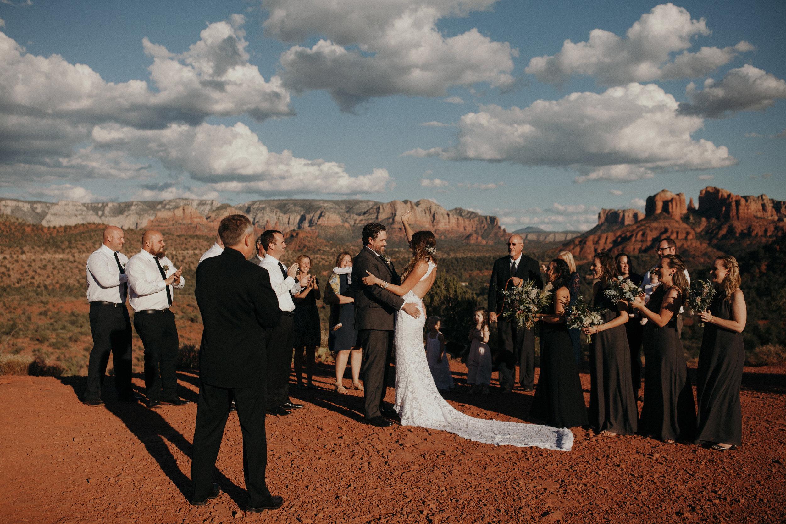 Sedona Wedding - Standing Ceremony