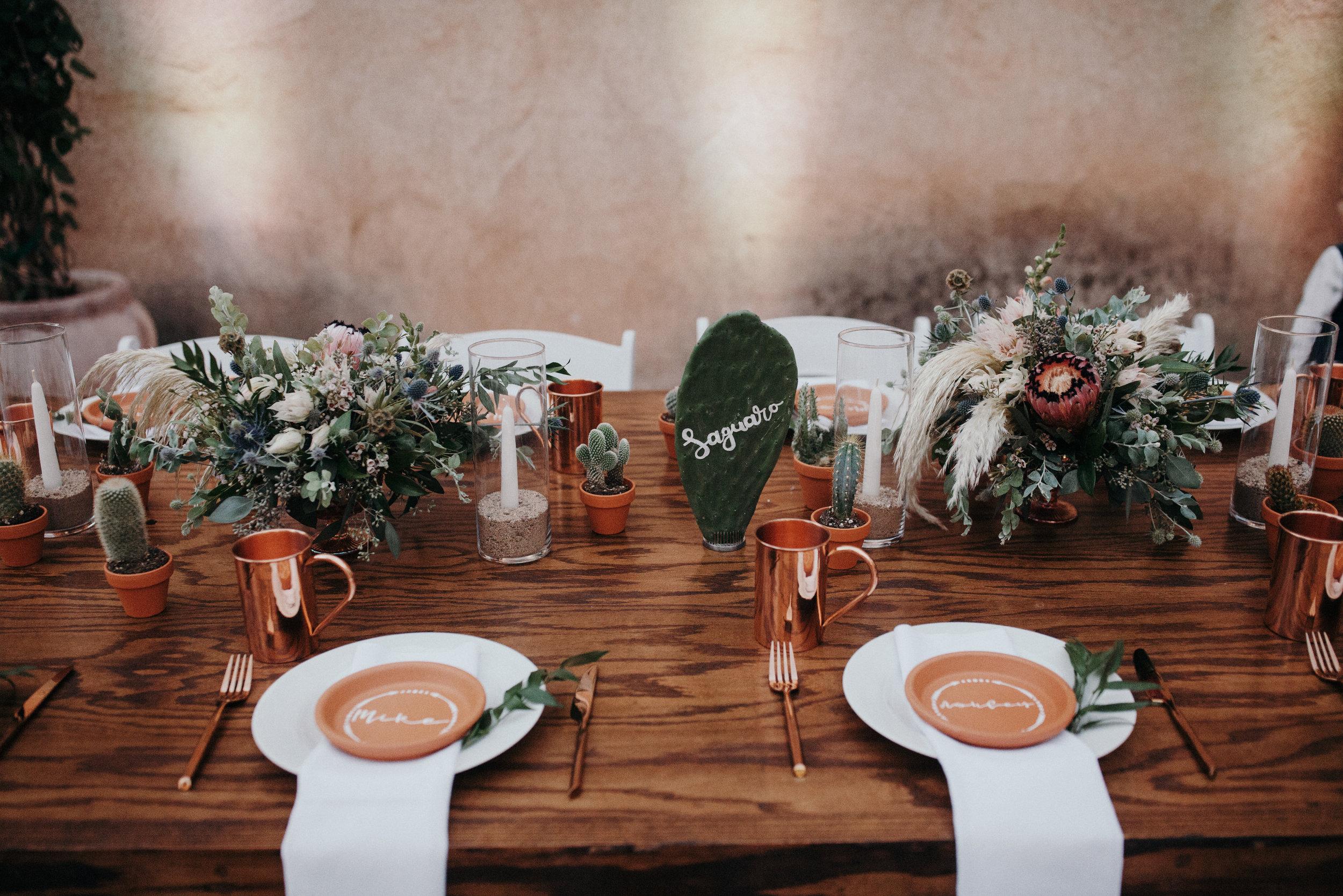 Sedona Wedding - Desert Centerpieces