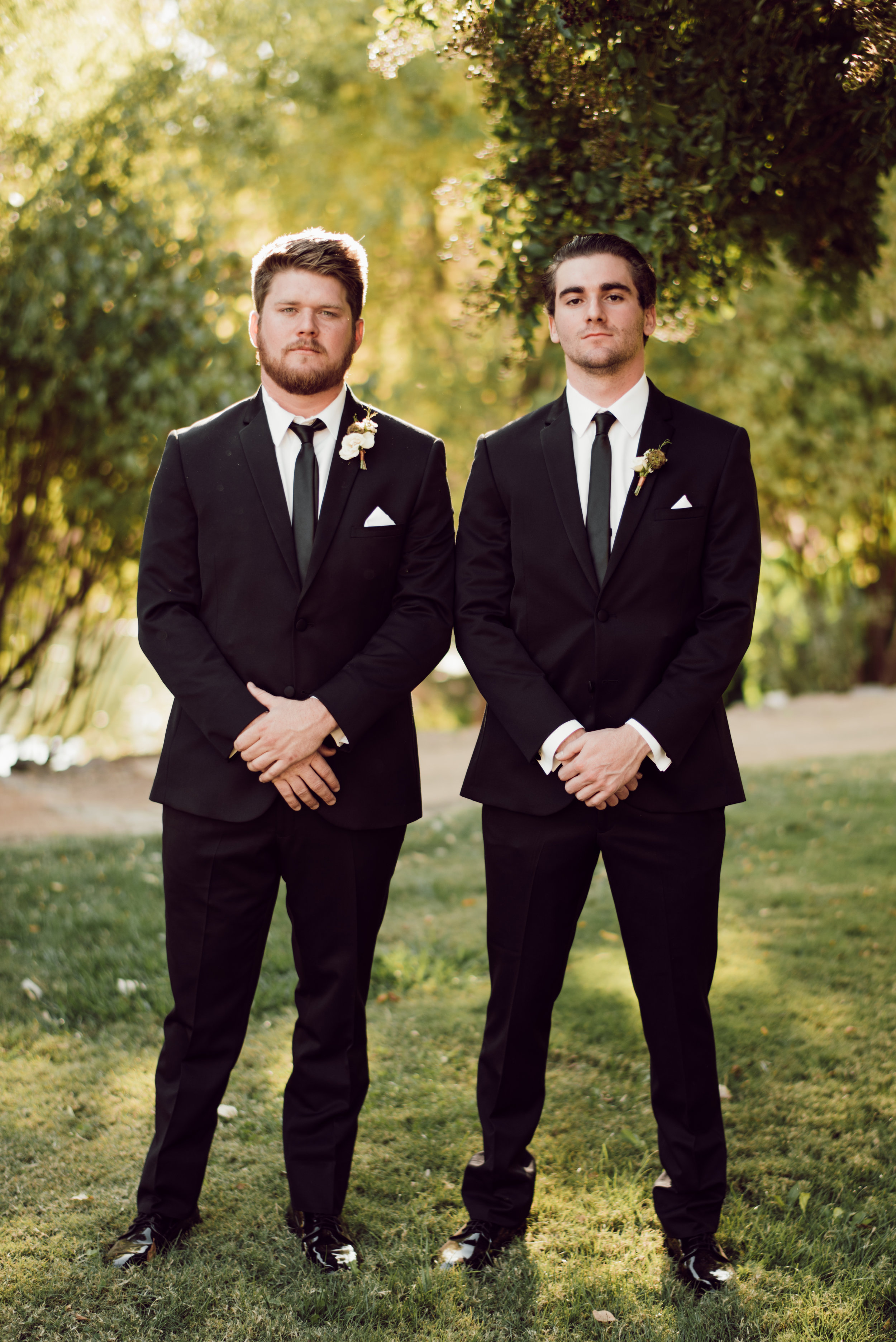 DA Ranch Fall Wedding - Groomsmen