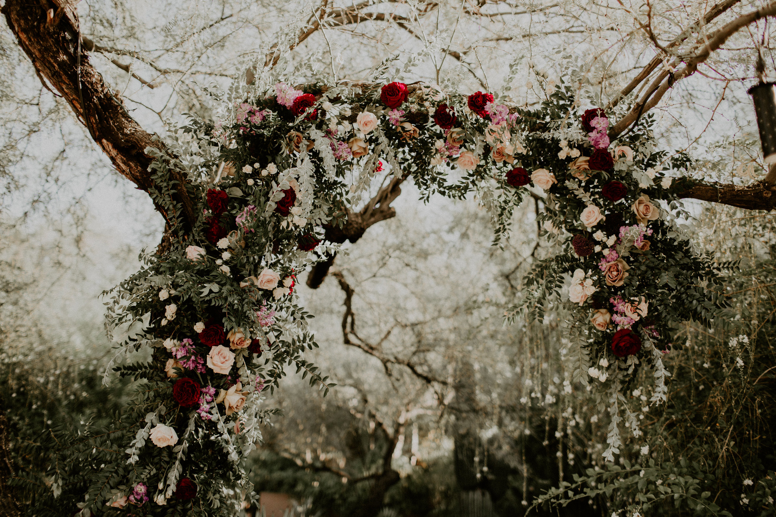 Moody Desert Wedding - Tree Garland