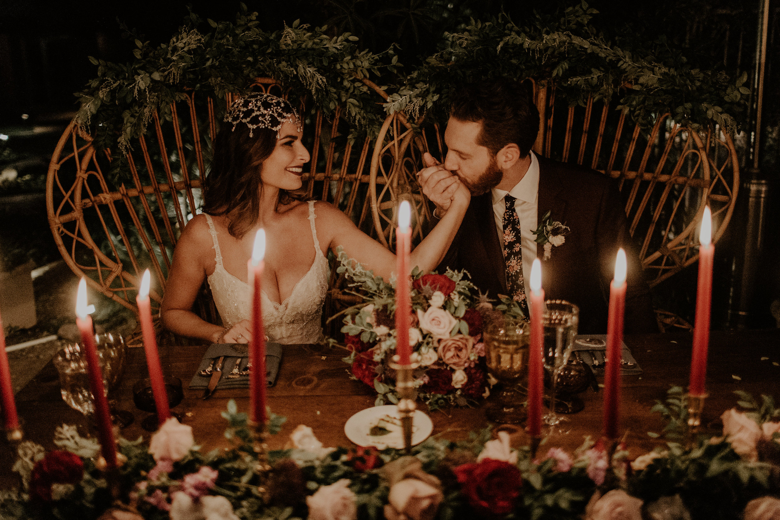 Moody Desert Wedding - Sweetheart Table