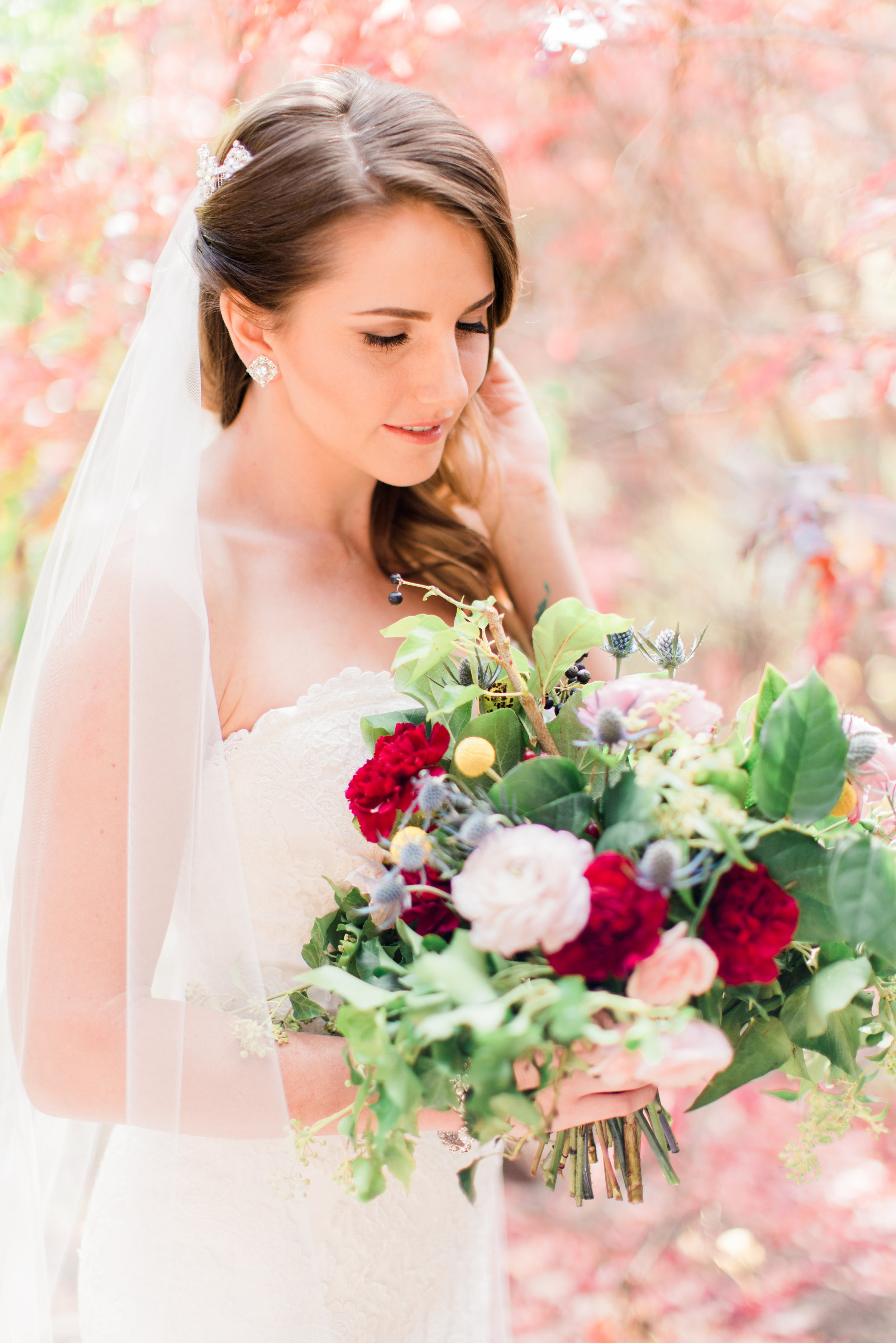 Flagstaff Forest Wedding - Bride and Bouquet