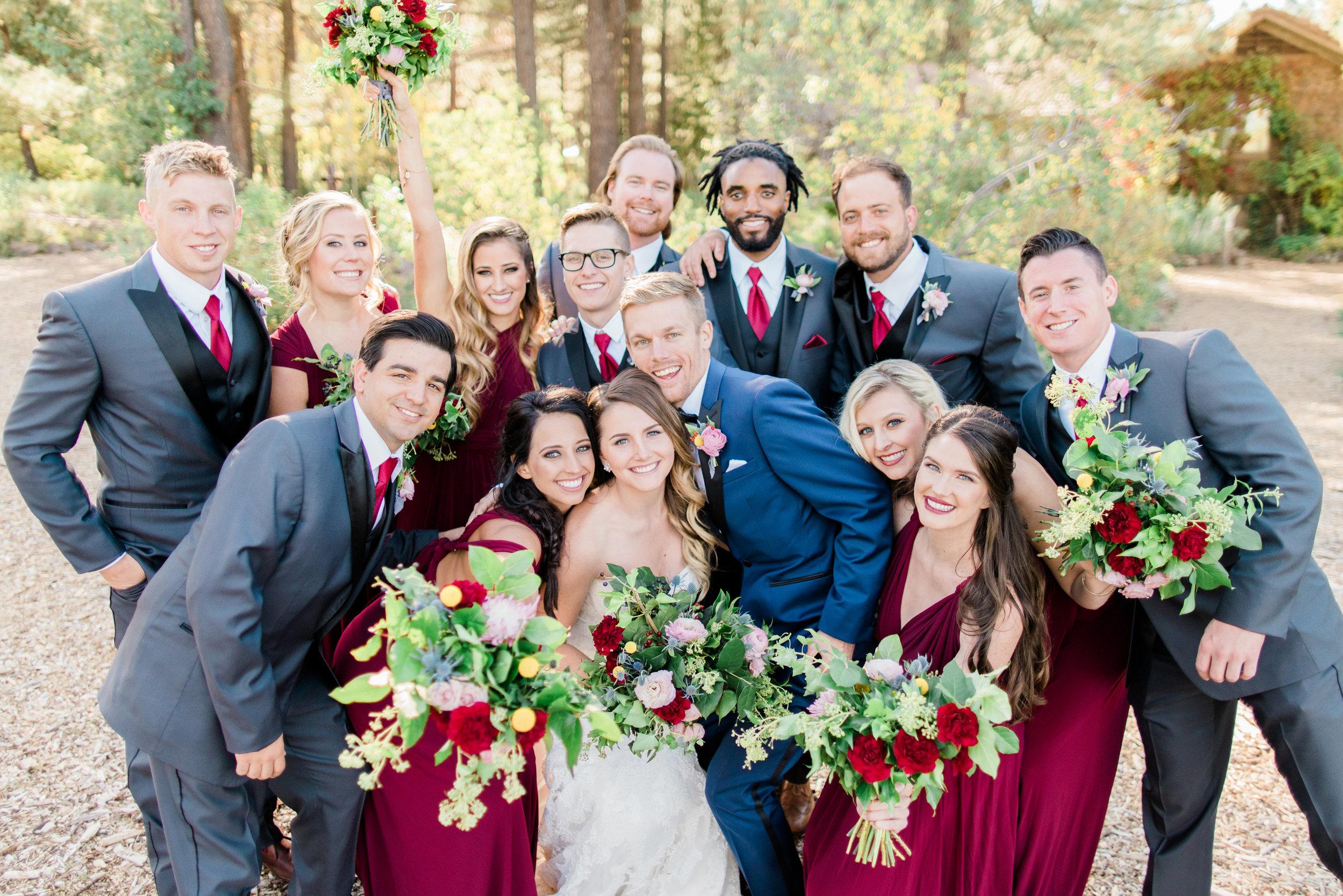 Flagstaff Forest Wedding - Wedding Party