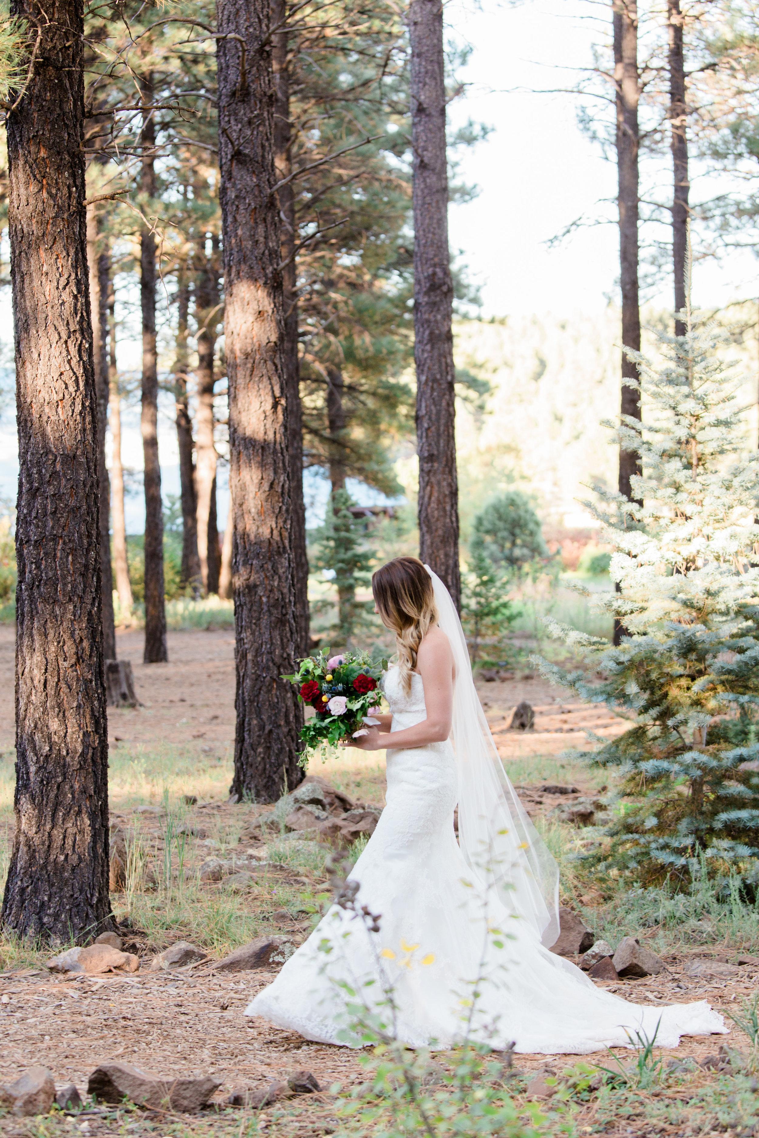 Flagstaff Forest Wedding - Bride