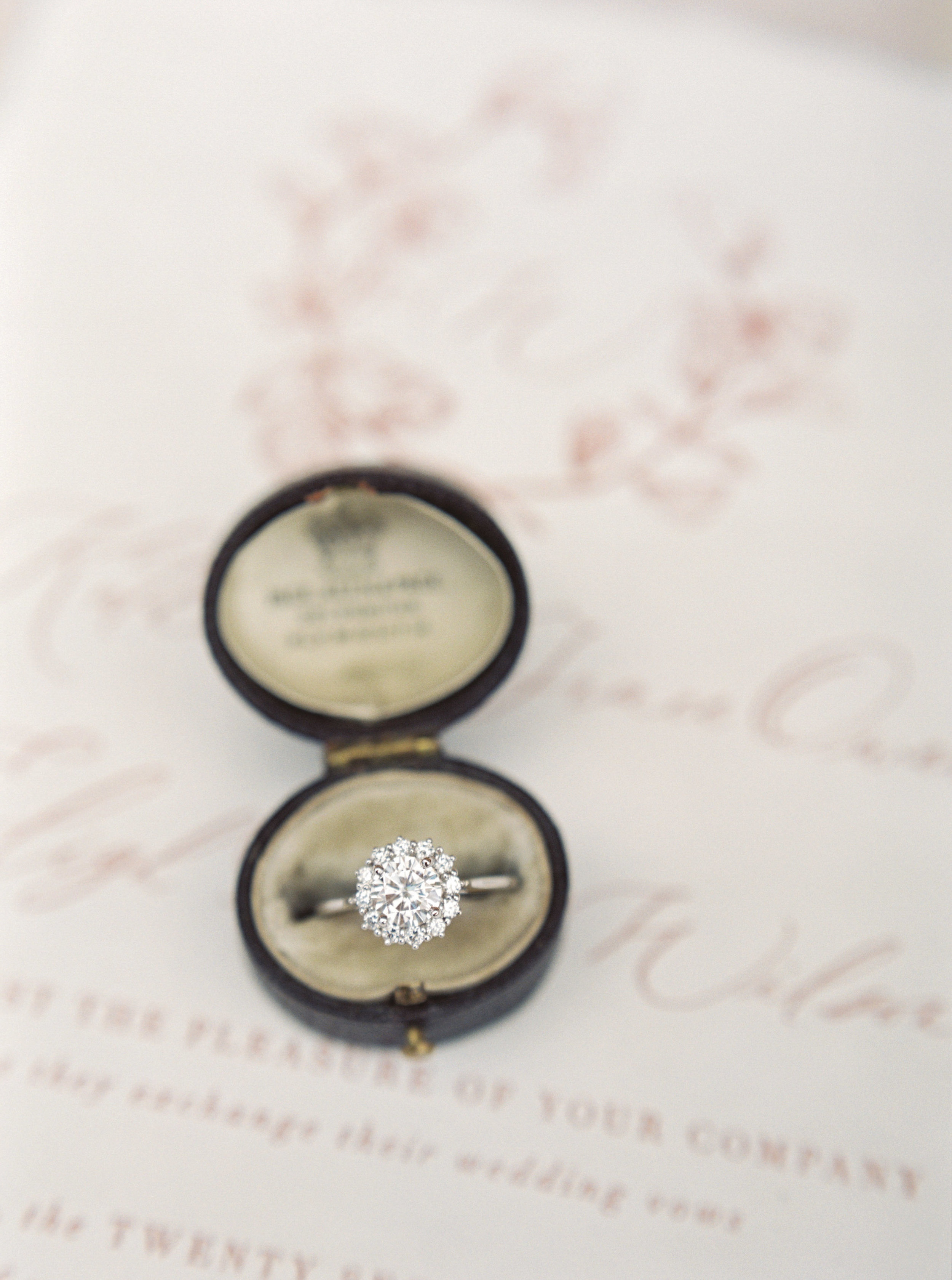 Fine Art Wedding Inspiration - Ring Styling
