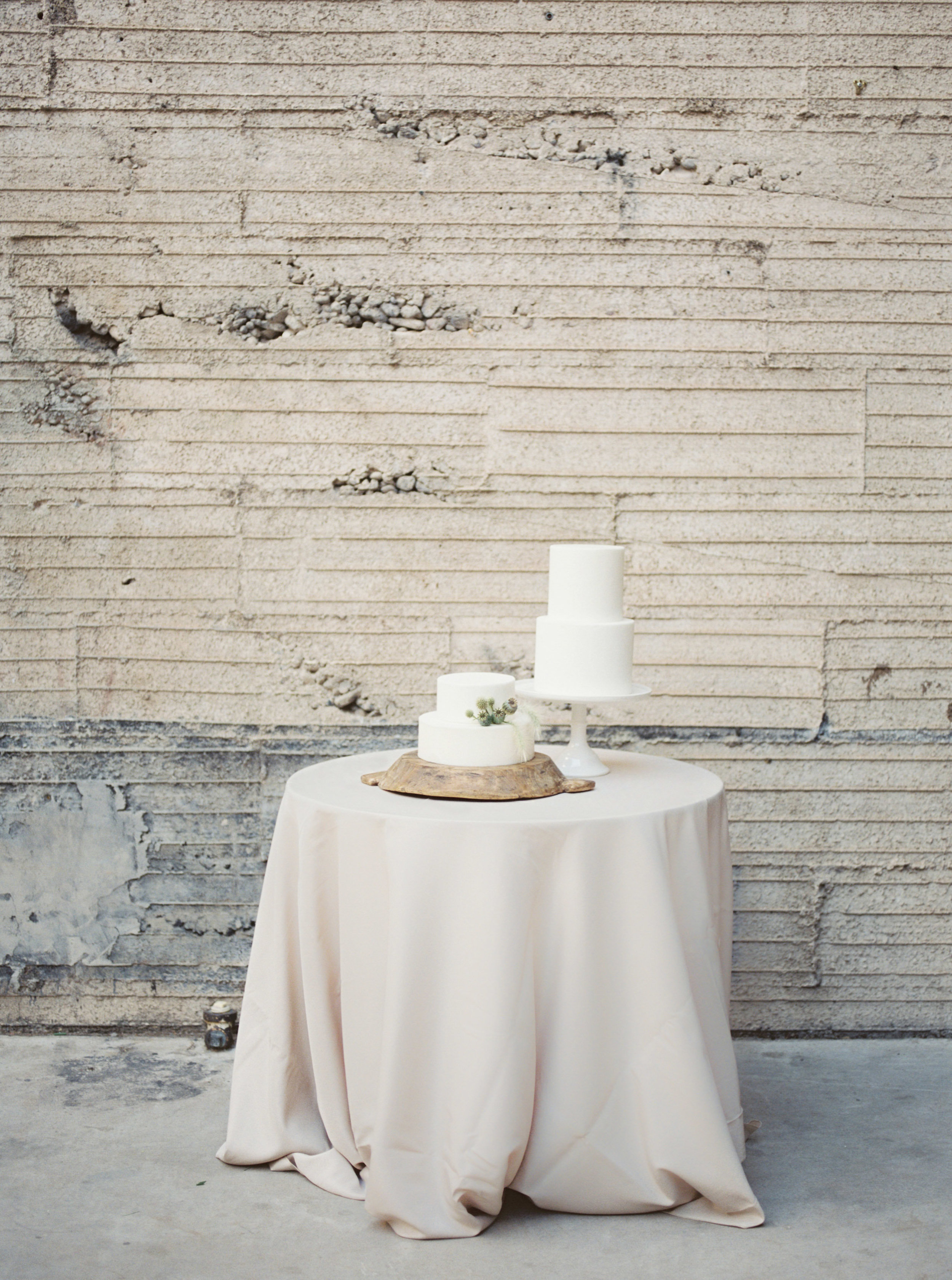 Fine Art Wedding Inspiration - Minimal Cake Table