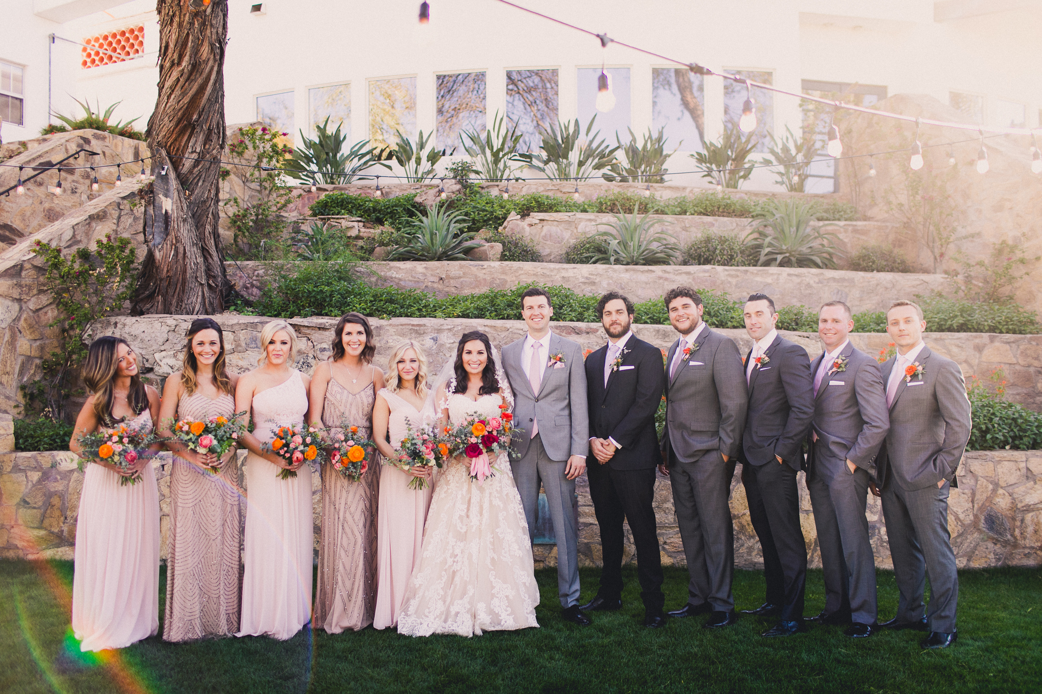 Colorful Springtime Wedding at Wrigley Mansion - Bridal Party Inspo