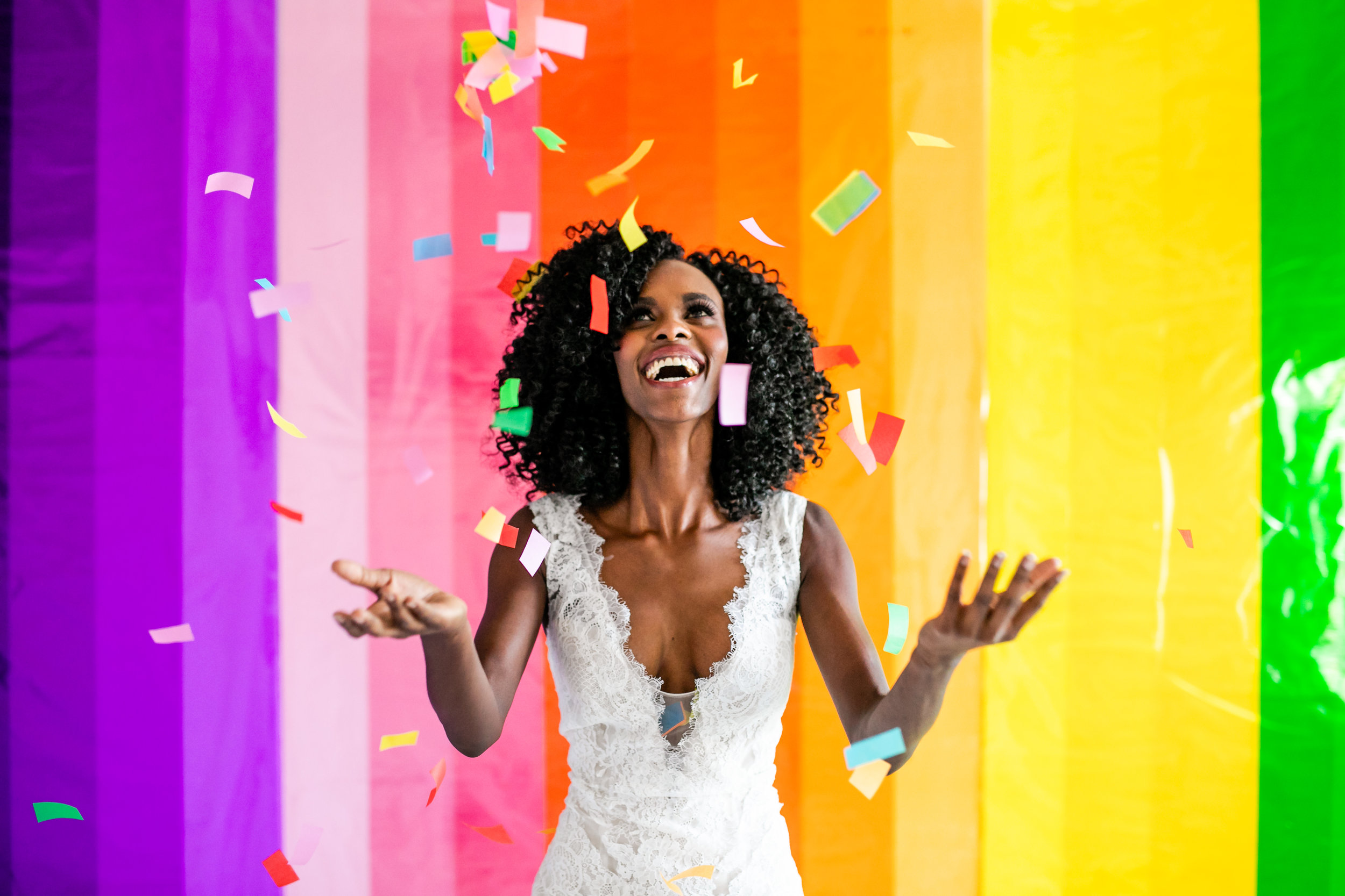 Colorful Striped Wedding Inspo - Confetti