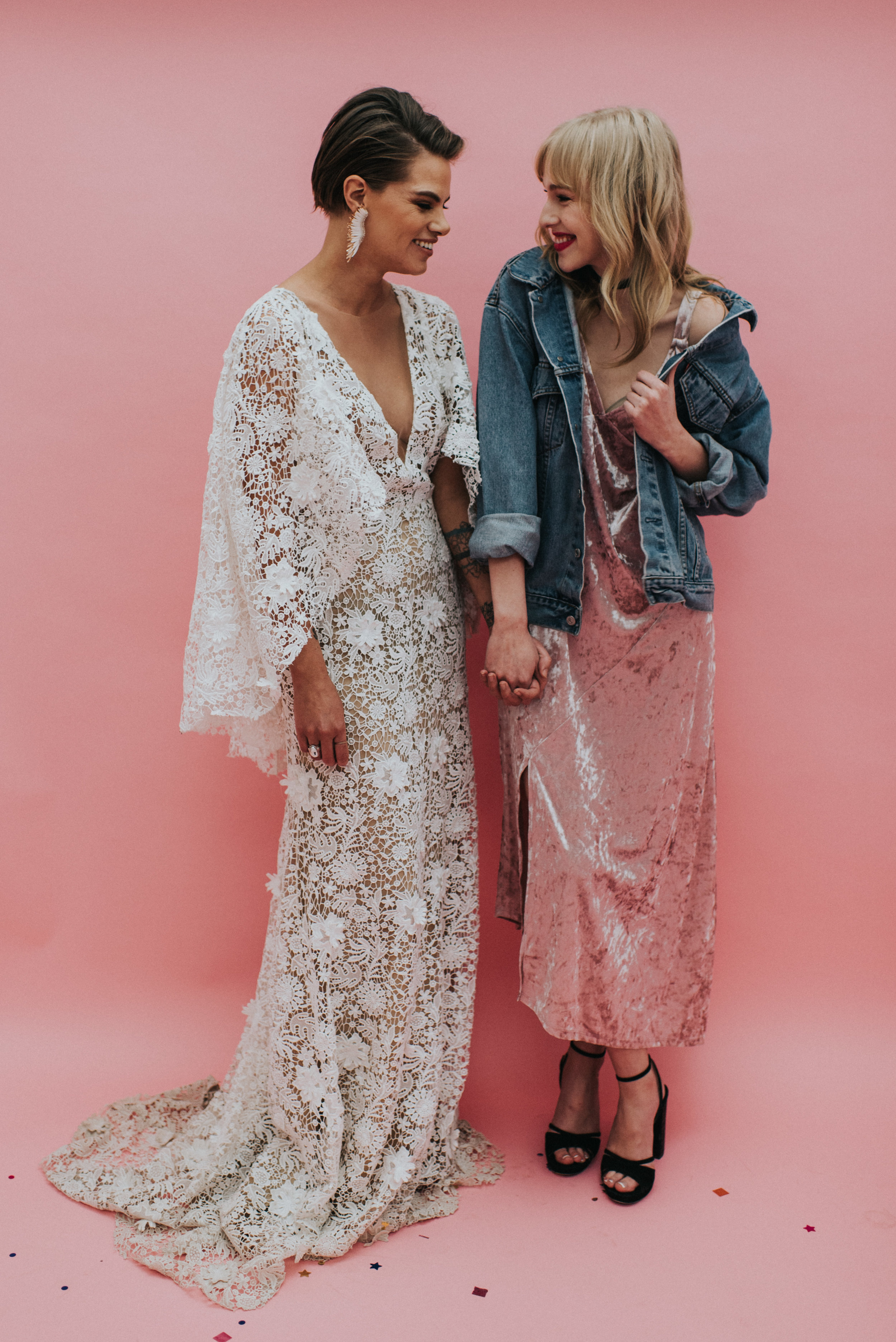 Millennial Pink Inspired Wedding - Velvet Bridesmaid Dress
