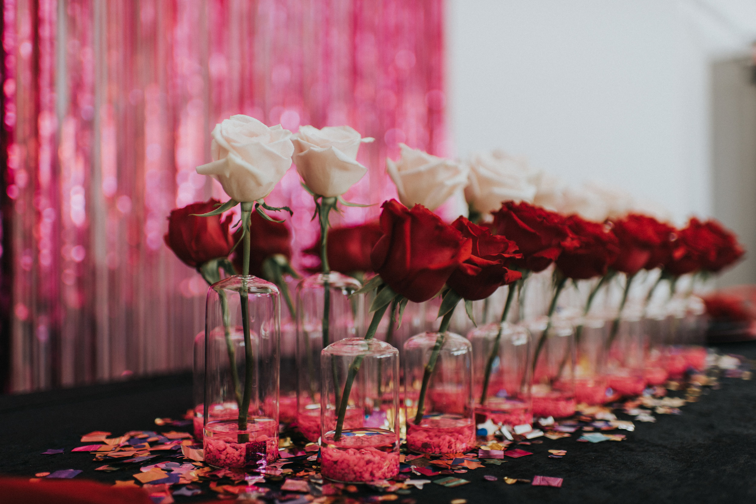 Millennial Pink Inspired Wedding - Rose Bud Vase Centerpiece