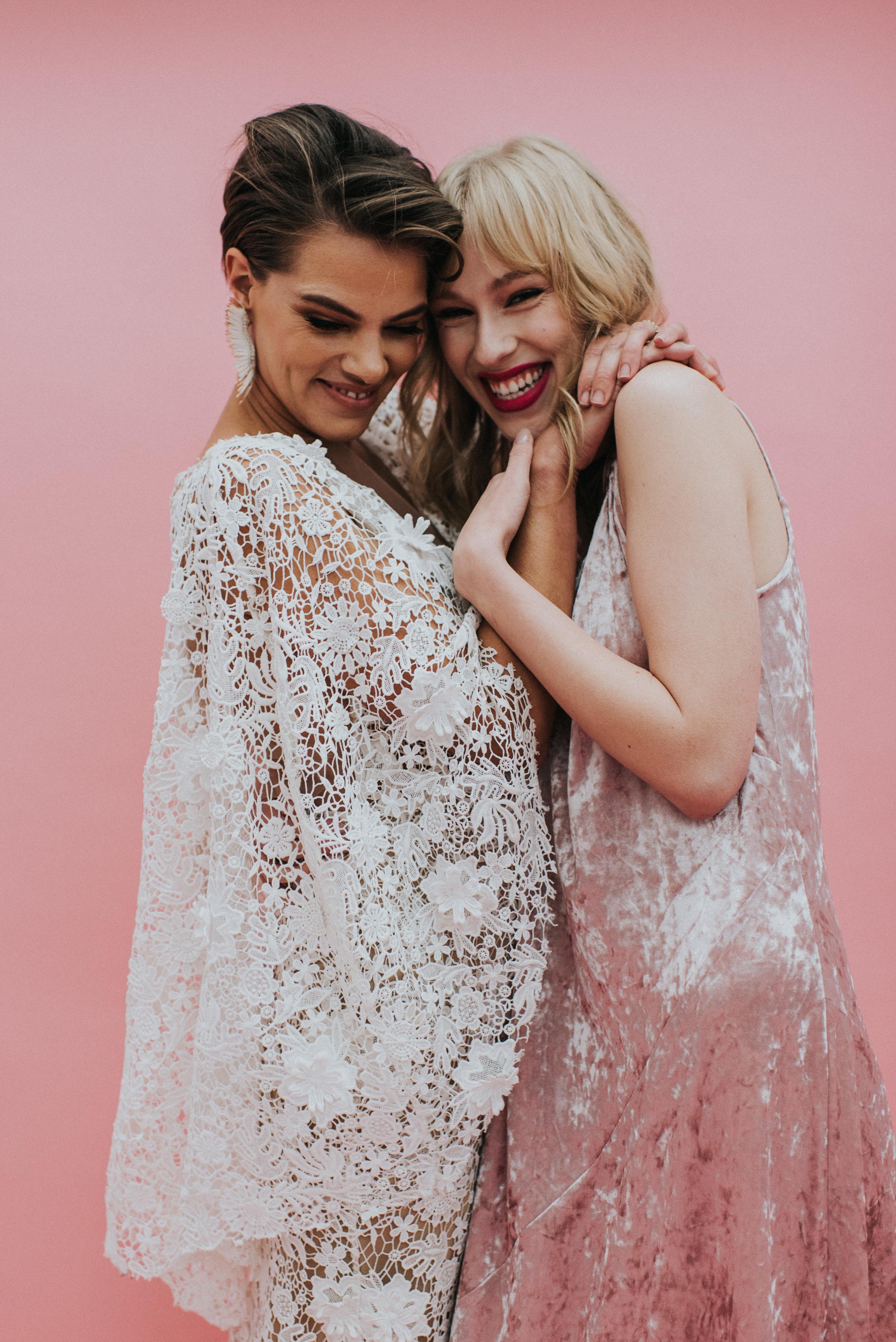 Millennial Pink Inspired Wedding - Wedding Portraits on Pink