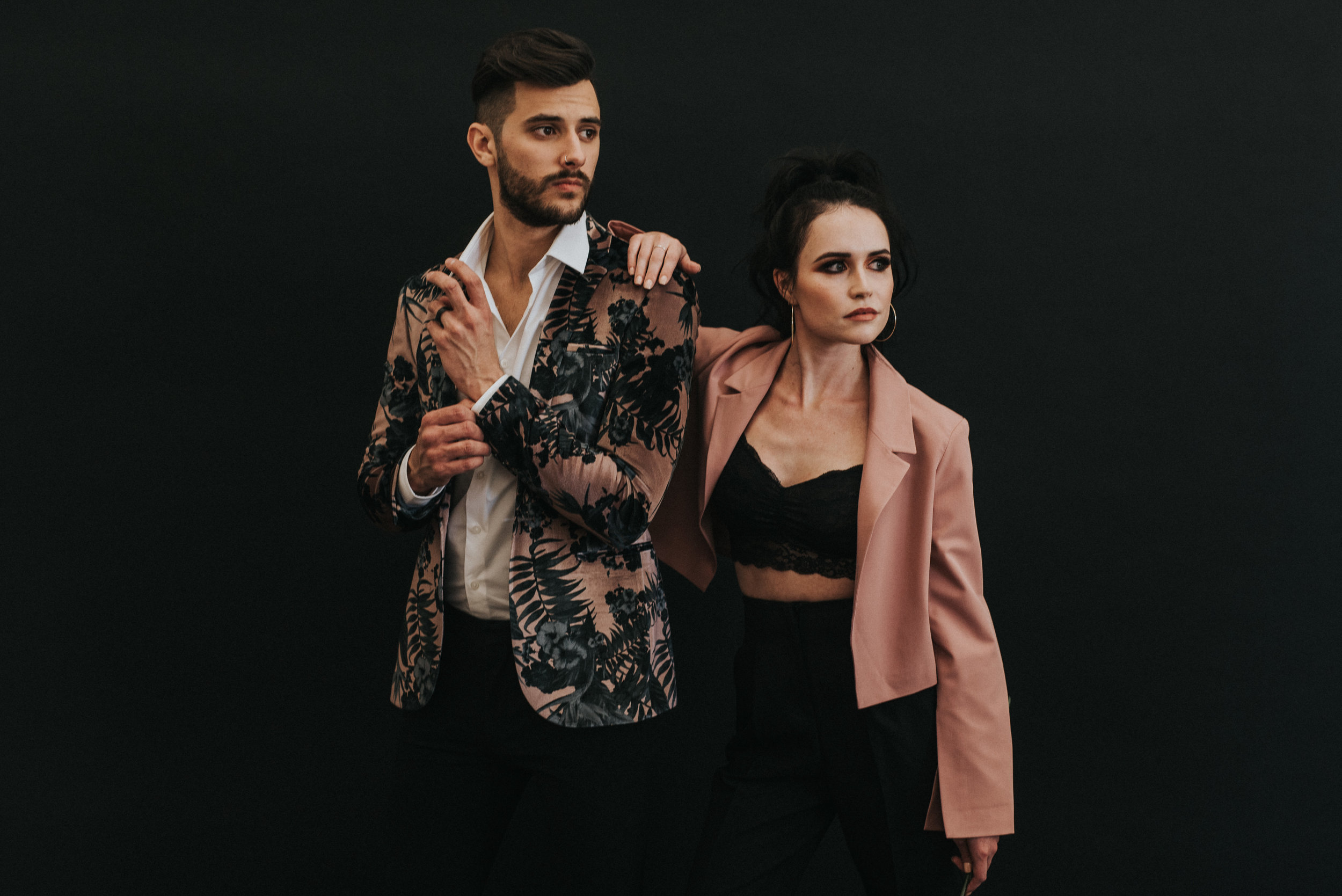 Millennial Pink Inspired Wedding - Groom and Groomslady