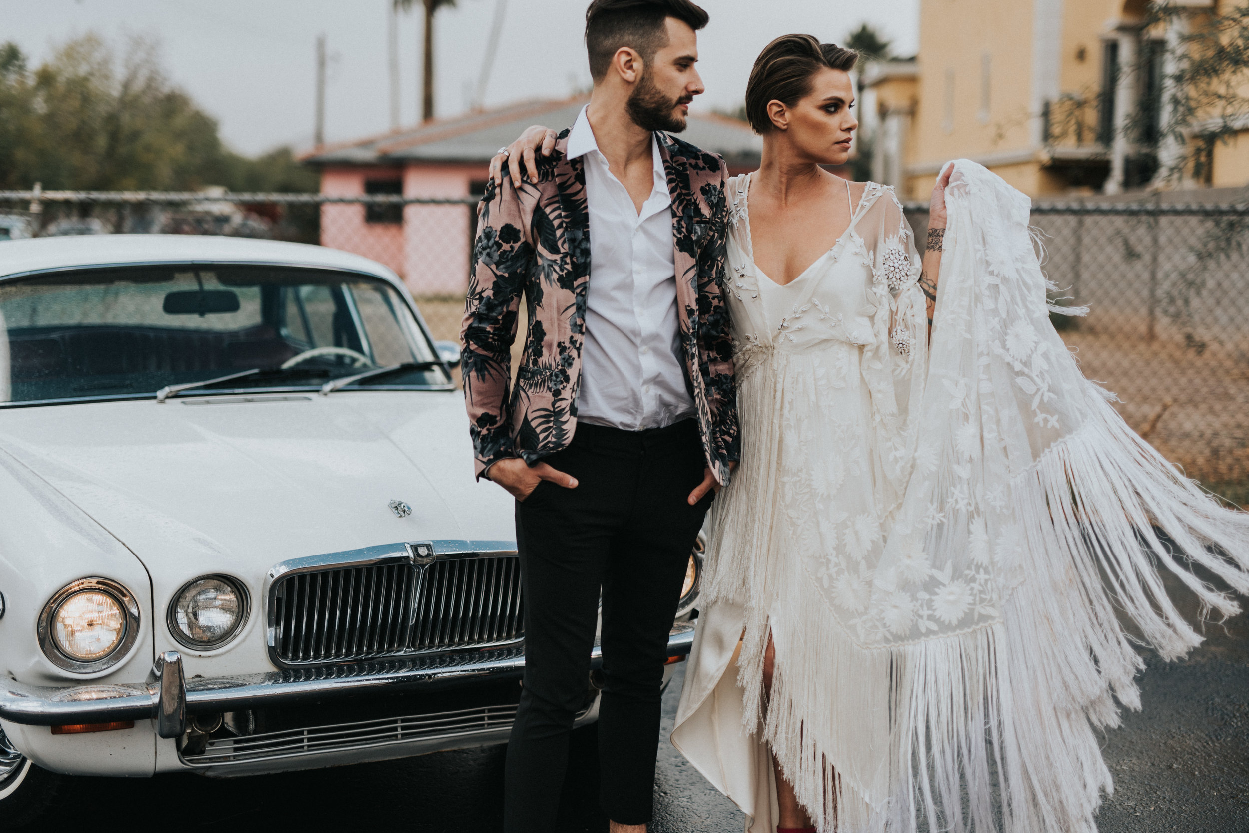Millennial Pink Inspired Wedding - Rue de Siene Gown