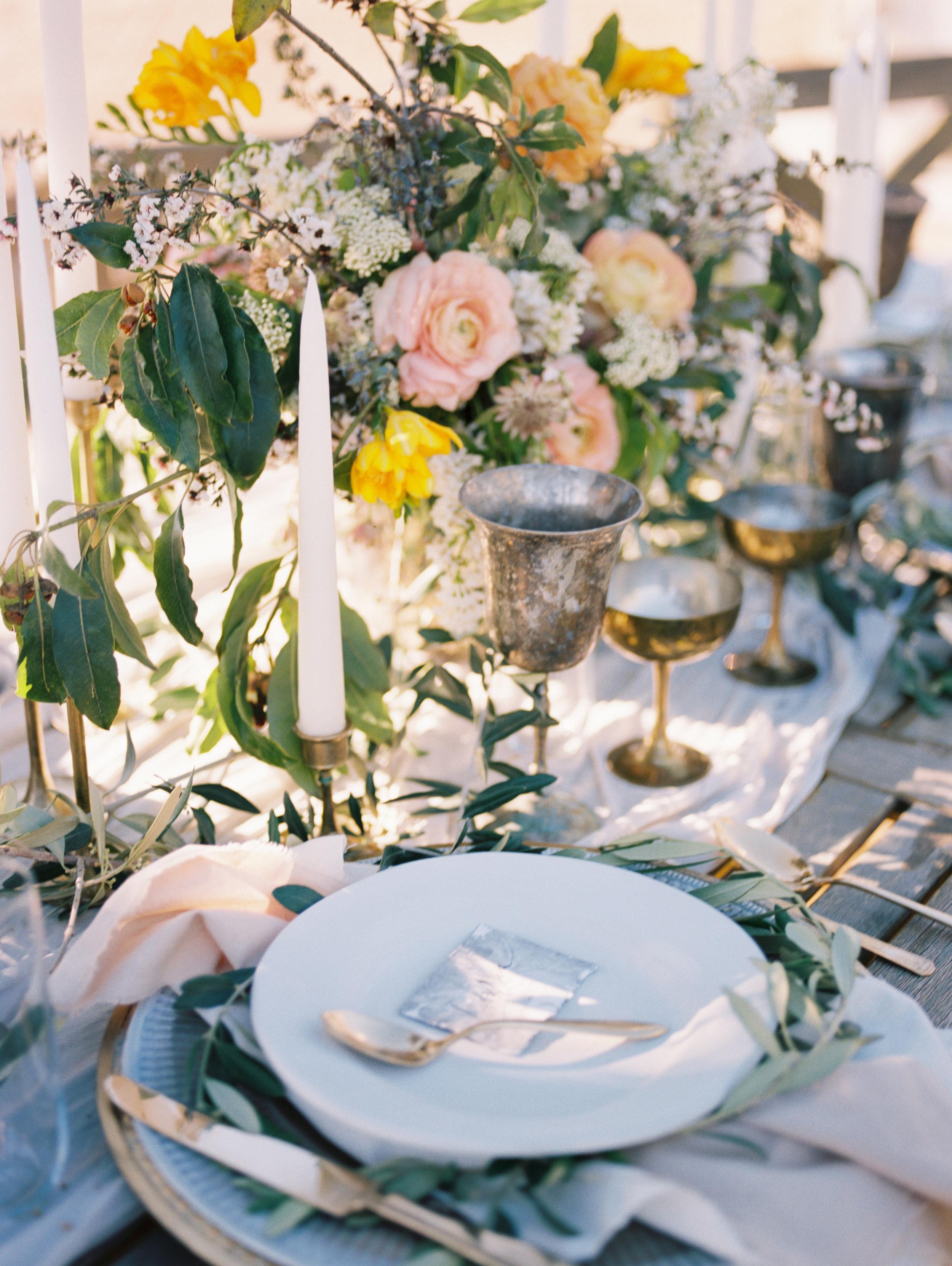 Olive Mill Wedding Inspiration - Fine Art Reception Table
