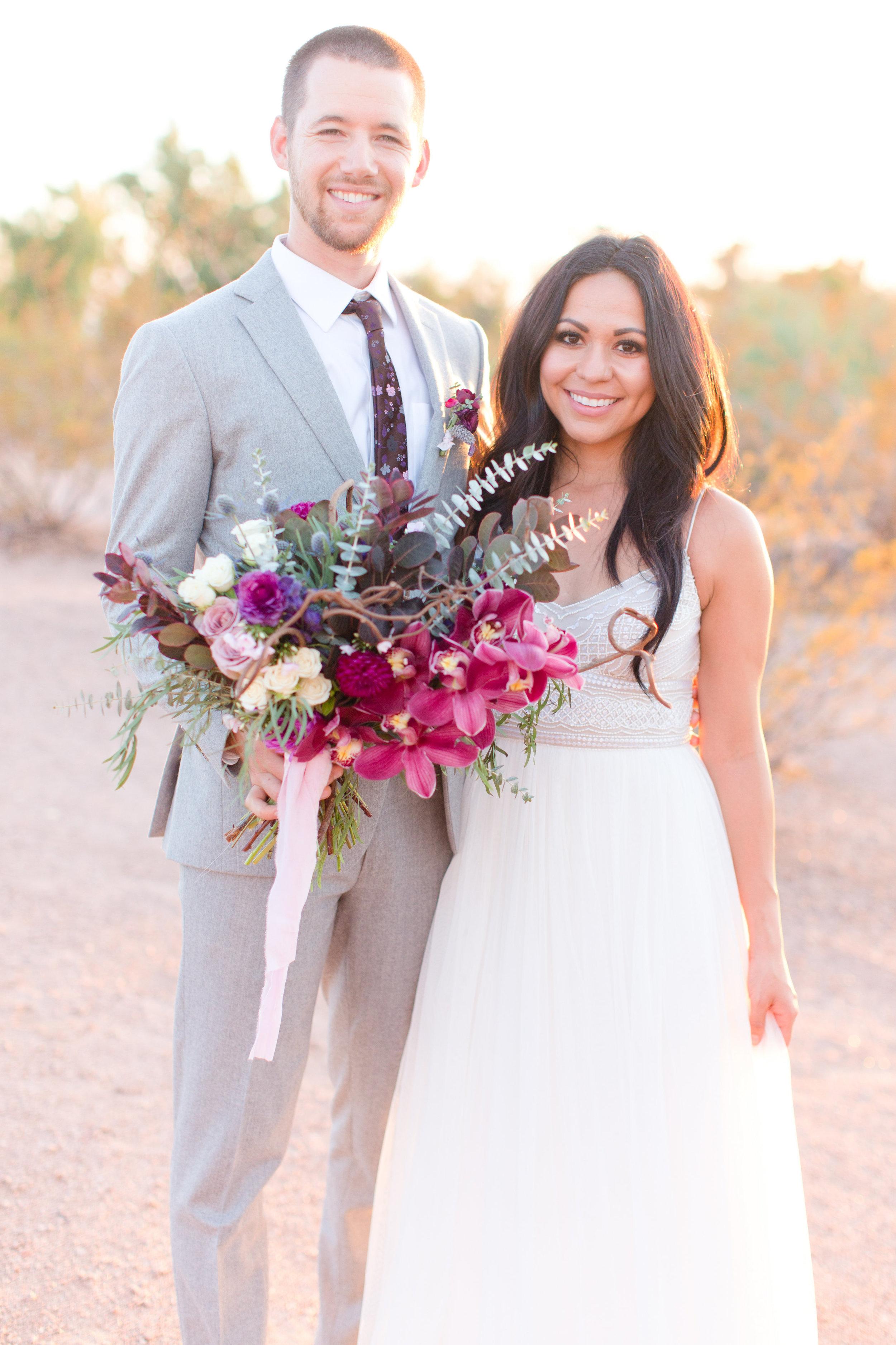 Amy & Jordan Workshop - Purple Anthropologie Inspired Wedding