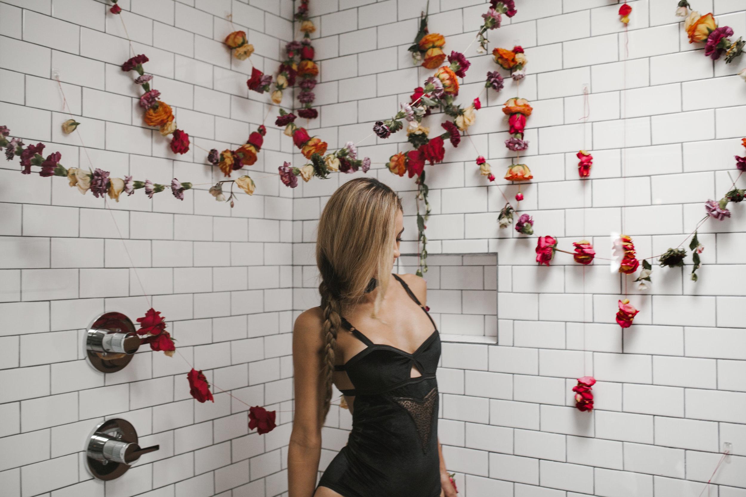 Nontraditional Wedding Inspiration - Flower Installation