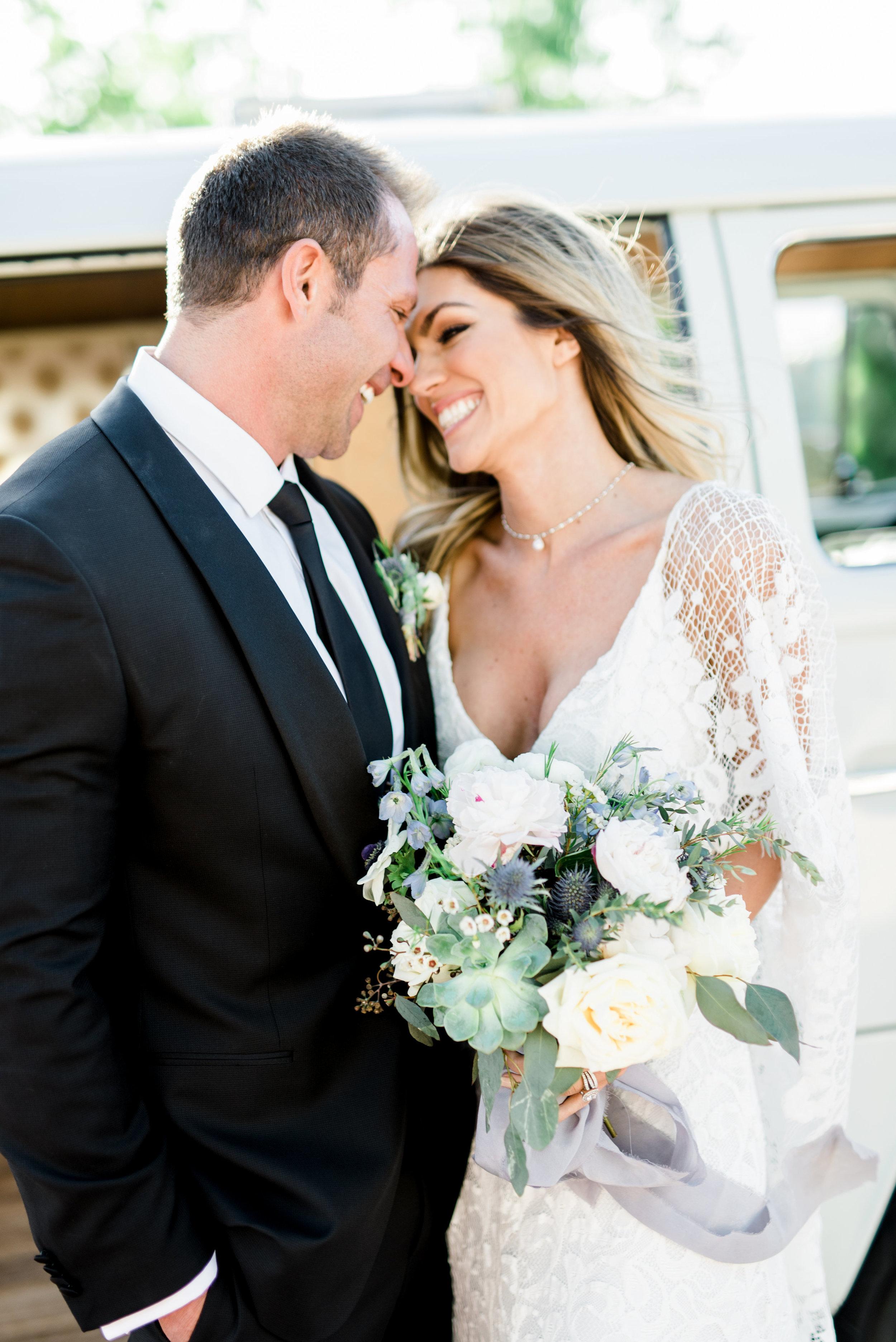 Boho Sedona Wedding - Succulent Bouquet