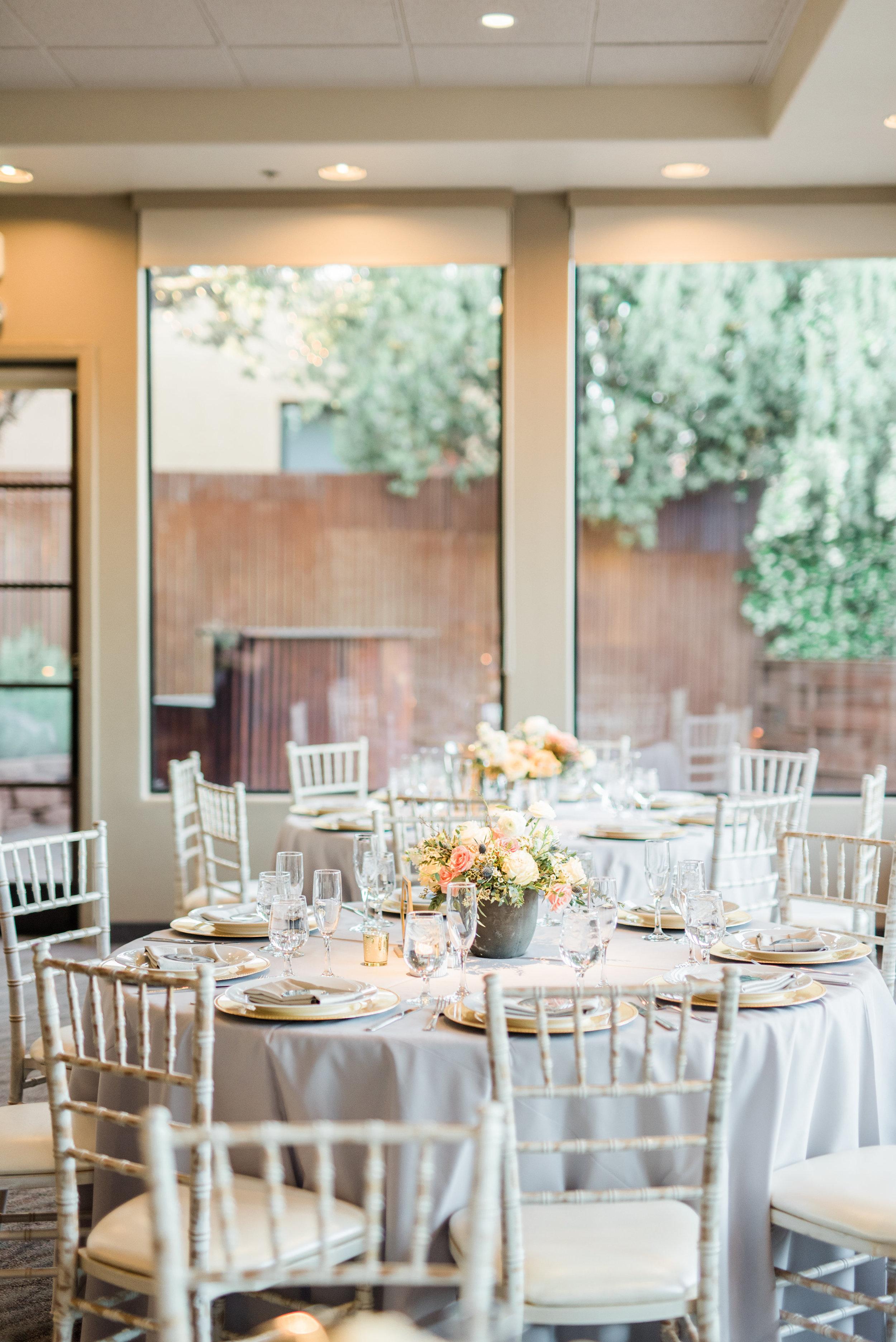 Boho Sedona Wedding - Reception Set-up
