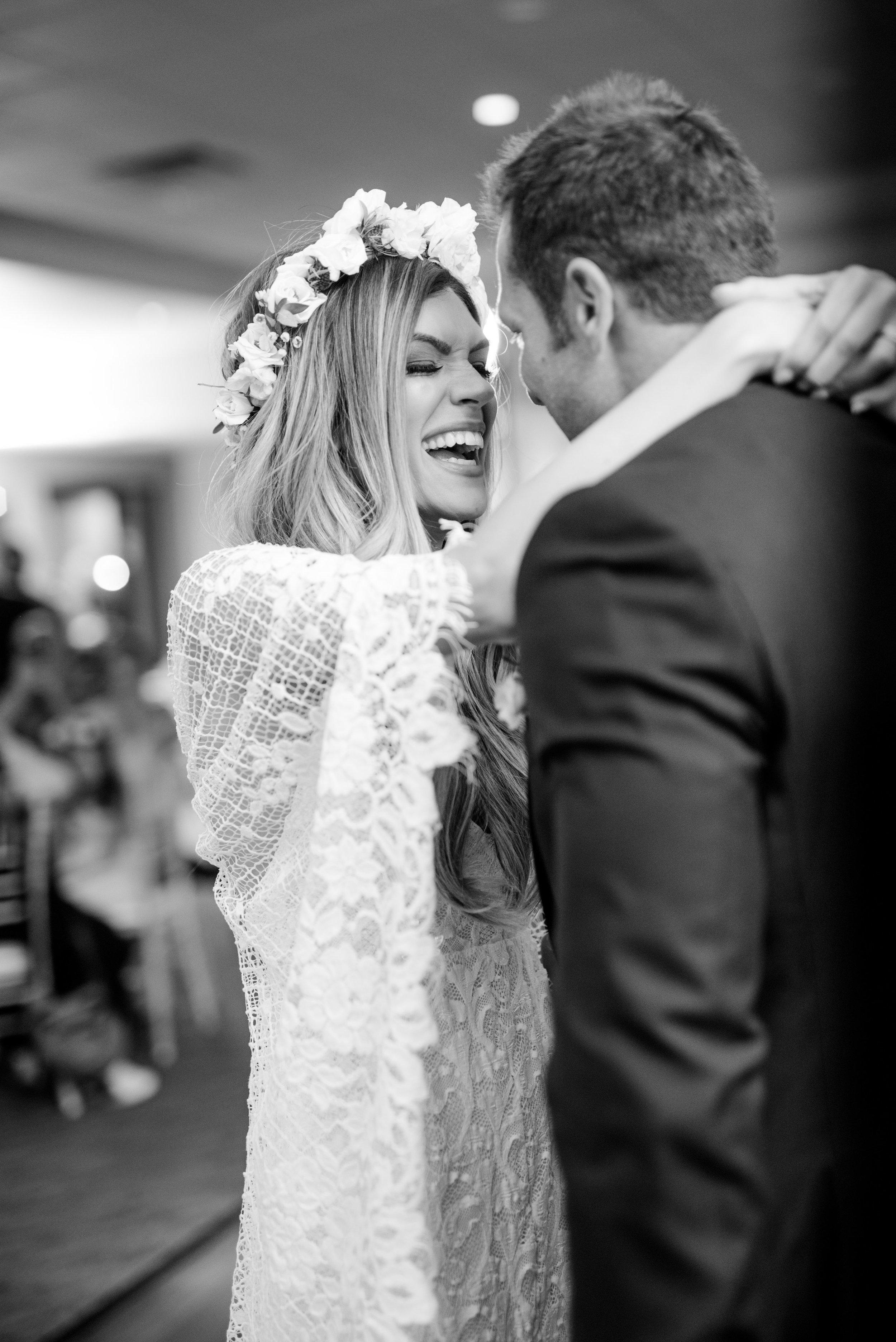 Boho Sedona Wedding - Bride with flower crown