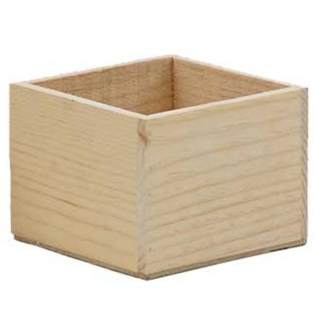 """Wood Box 6"""" x 6"""""""