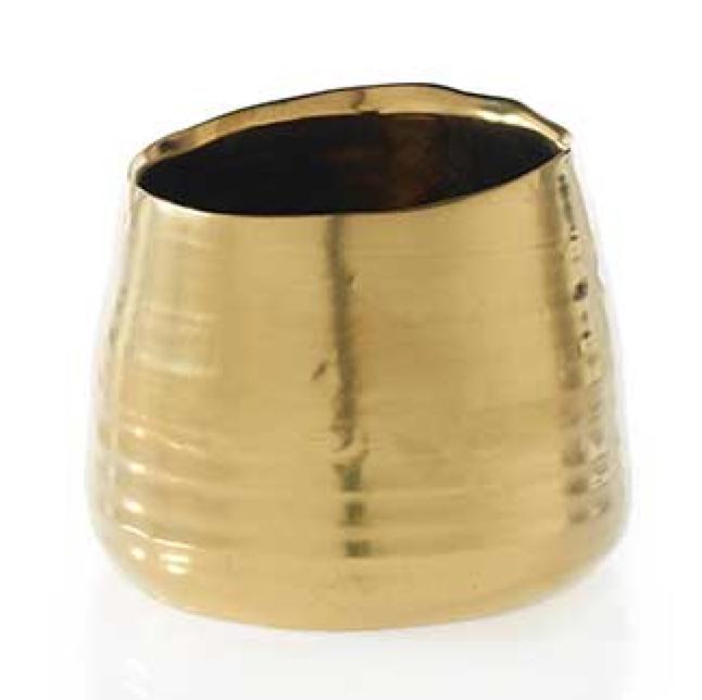 """Gold Tegan Pot 5.5"""" x 4.5"""""""
