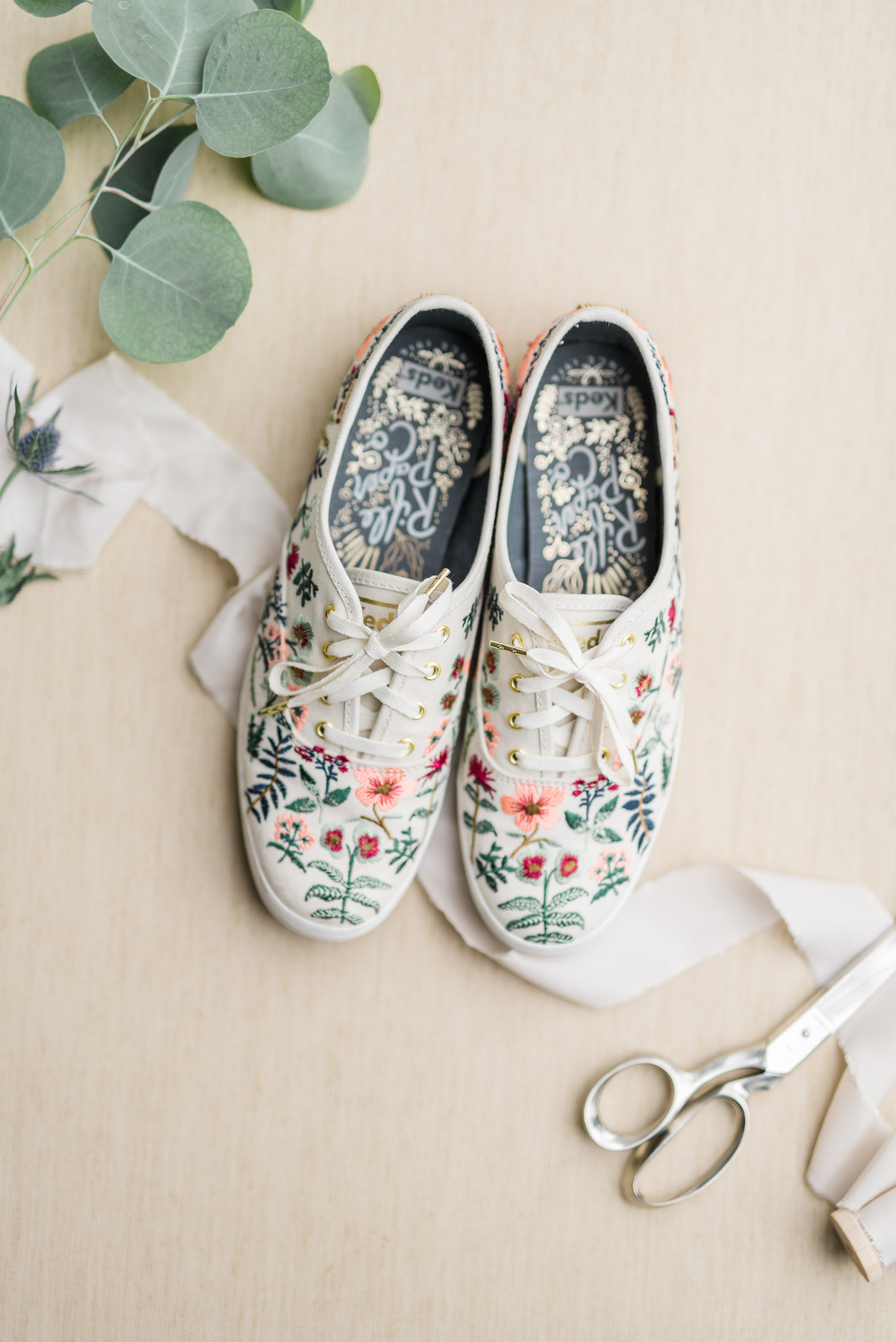 Floral Keds for bridal Shoes