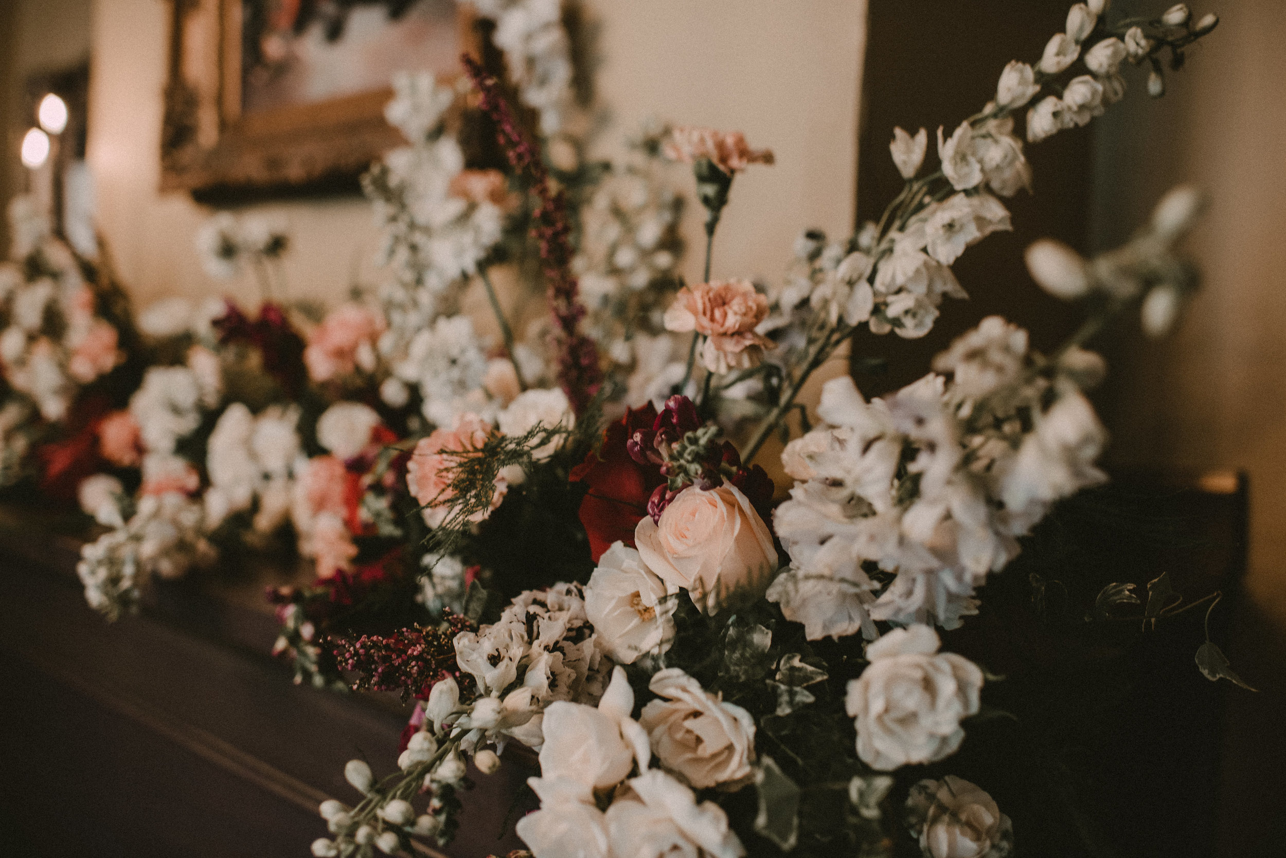 Harry Potter Themed Wedding - Floral Fireplace