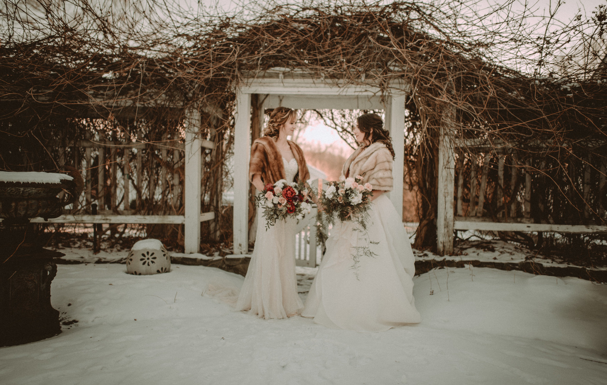 Snowy Upstate New York Wedding