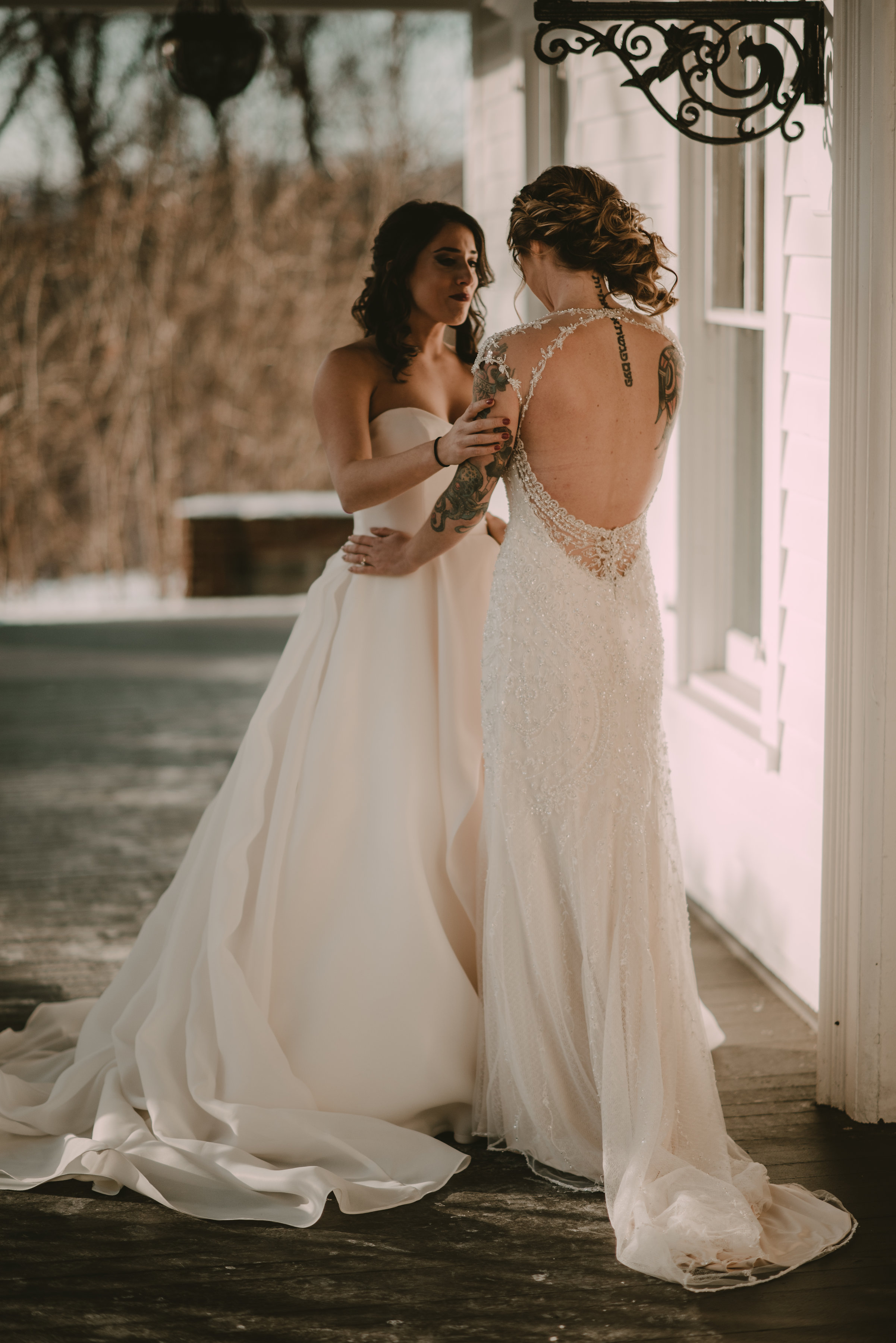 Snowy Upstate New York Wedding - First Look