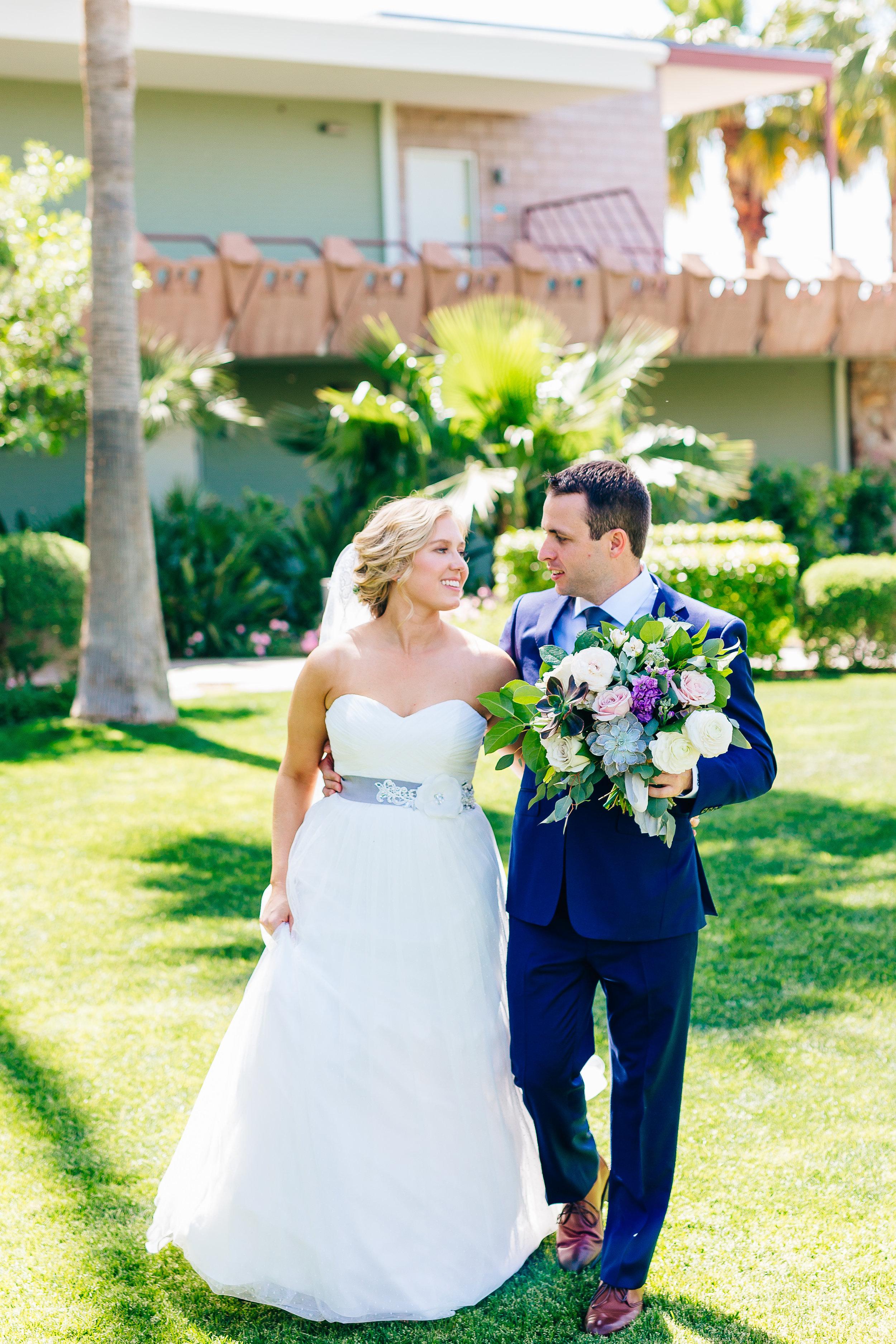 Desert Inspired Spring Wedding at Hotel Valley Ho - Succulent Bouquet